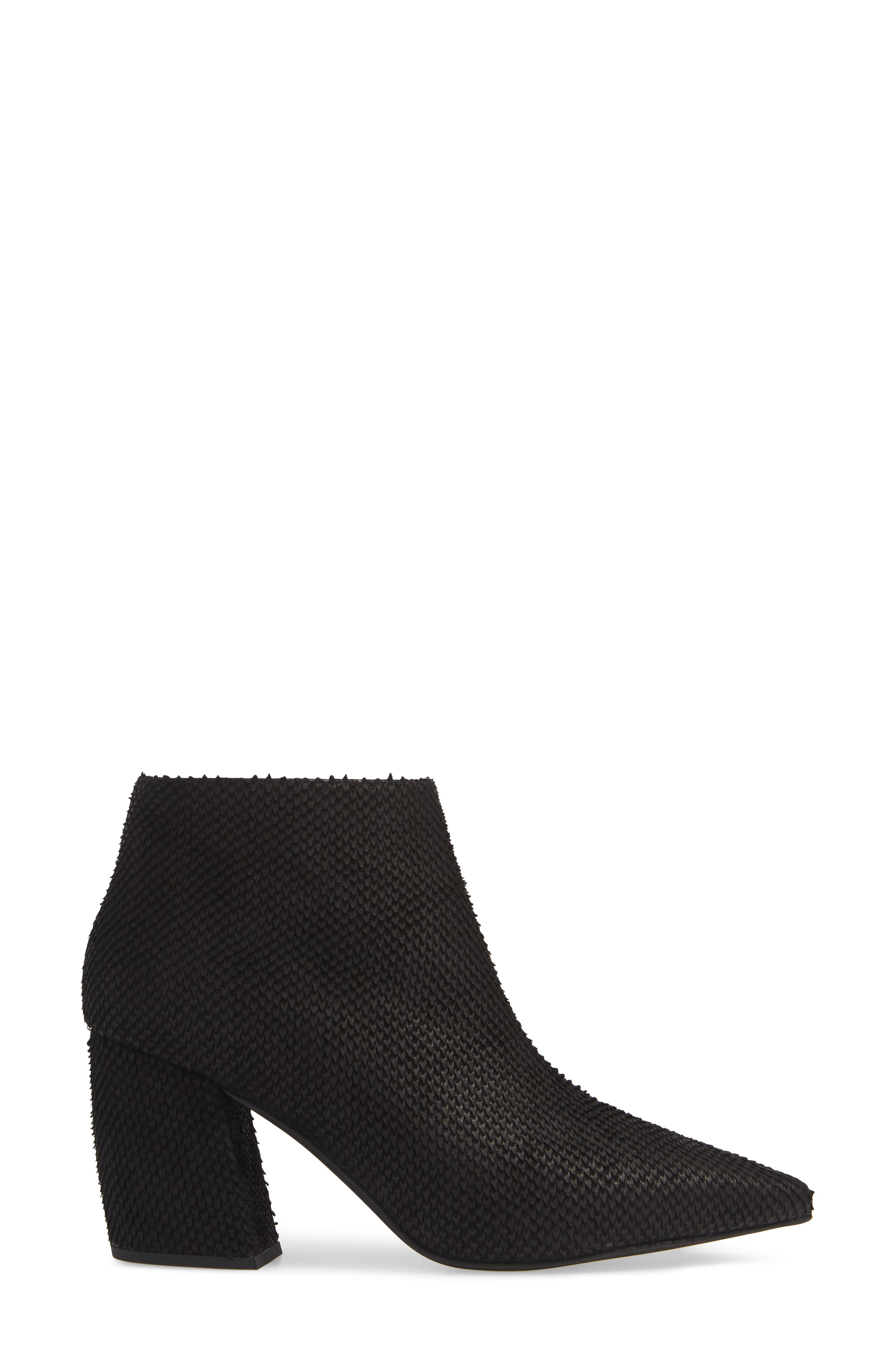 JEFFREY CAMPBELL, Total Ankle Bootie, Alternate thumbnail 3, color, BLACK SCALES