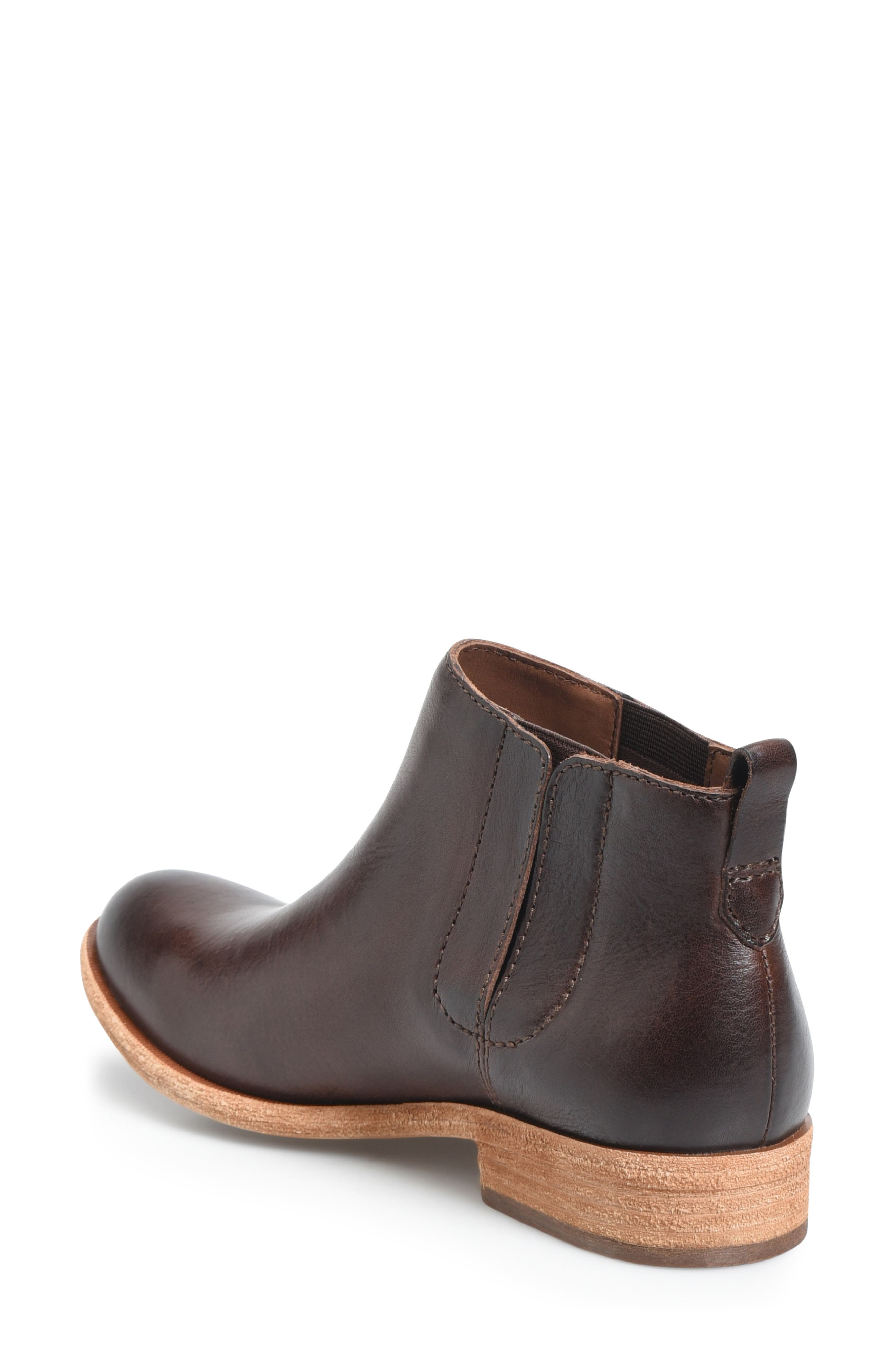 KORK-EASE<SUP>®</SUP>, Velma Bootie, Alternate thumbnail 2, color, DARK BROWN LEATHER