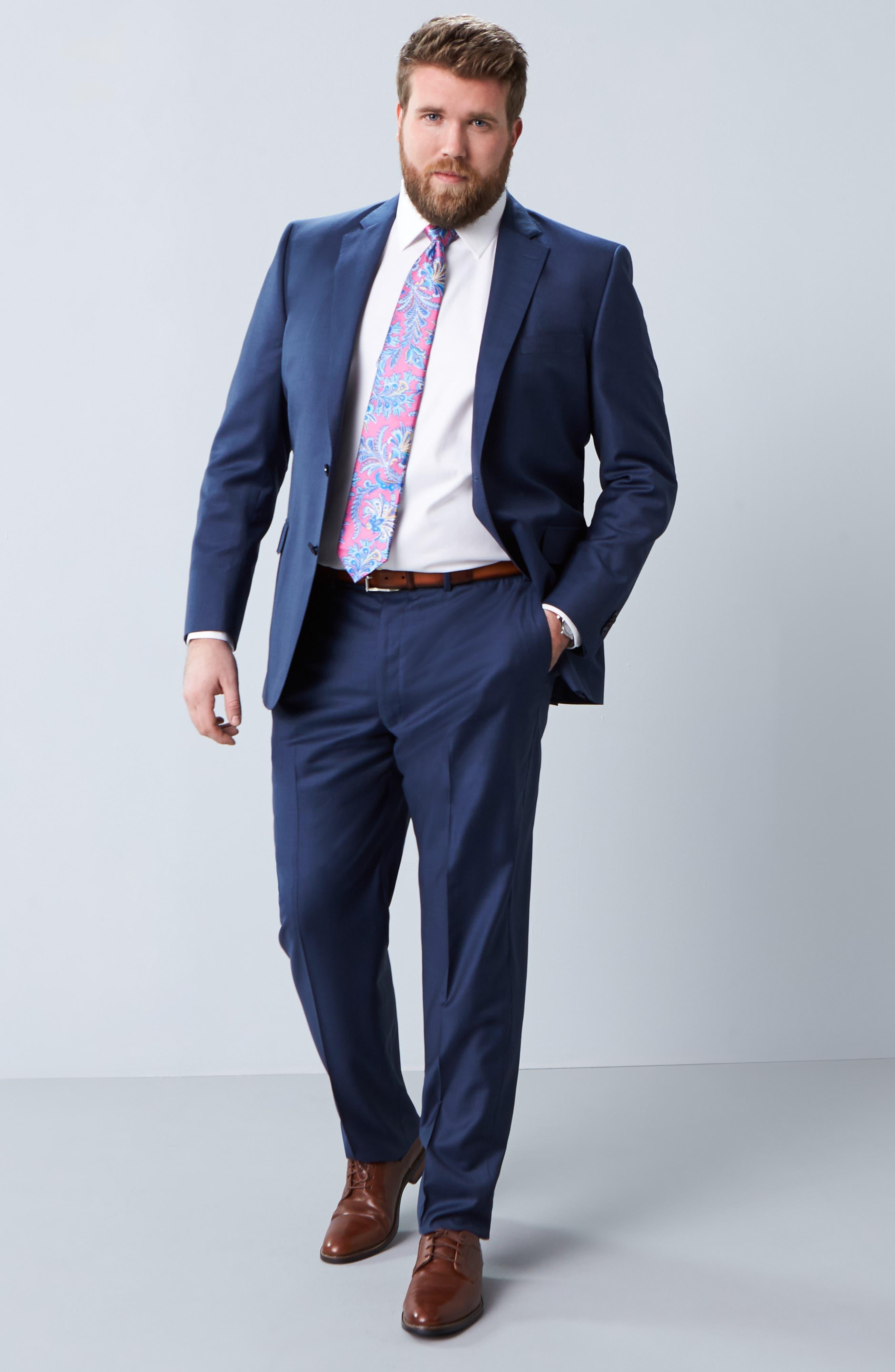 DAVID DONAHUE, Regular Fit Oxford Dress Shirt, Alternate thumbnail 2, color, WHITE