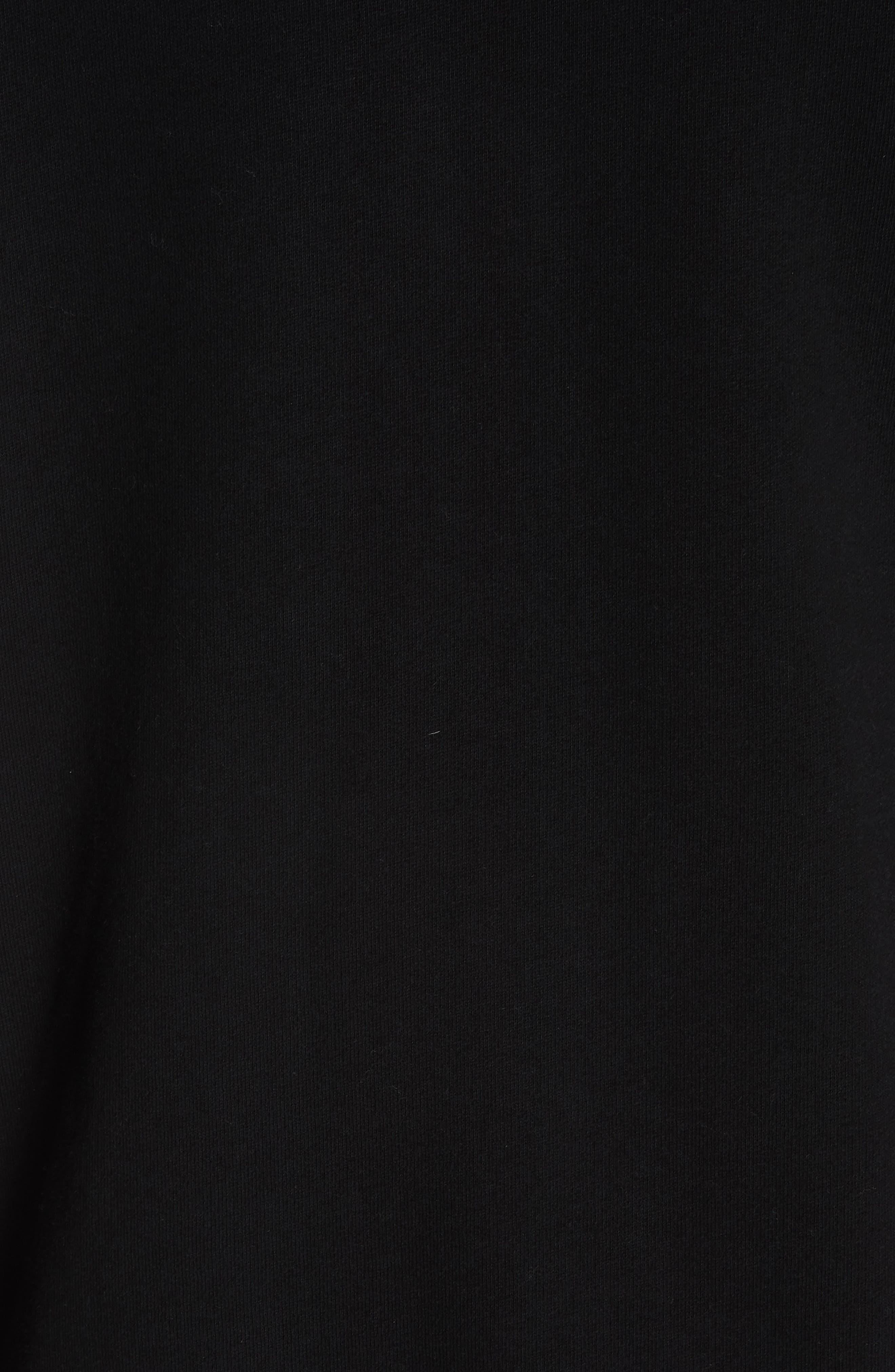 VERSACE COLLECTION, Zip Hoodie & Track Pants Set, Alternate thumbnail 6, color, BLACK