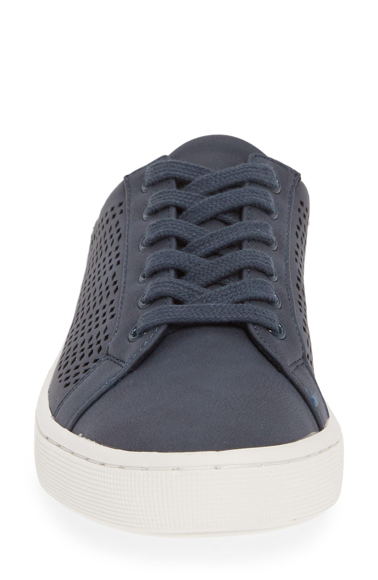 BELLA VITA, Star Open Back Sneaker, Alternate thumbnail 4, color, DENIM FABRIC