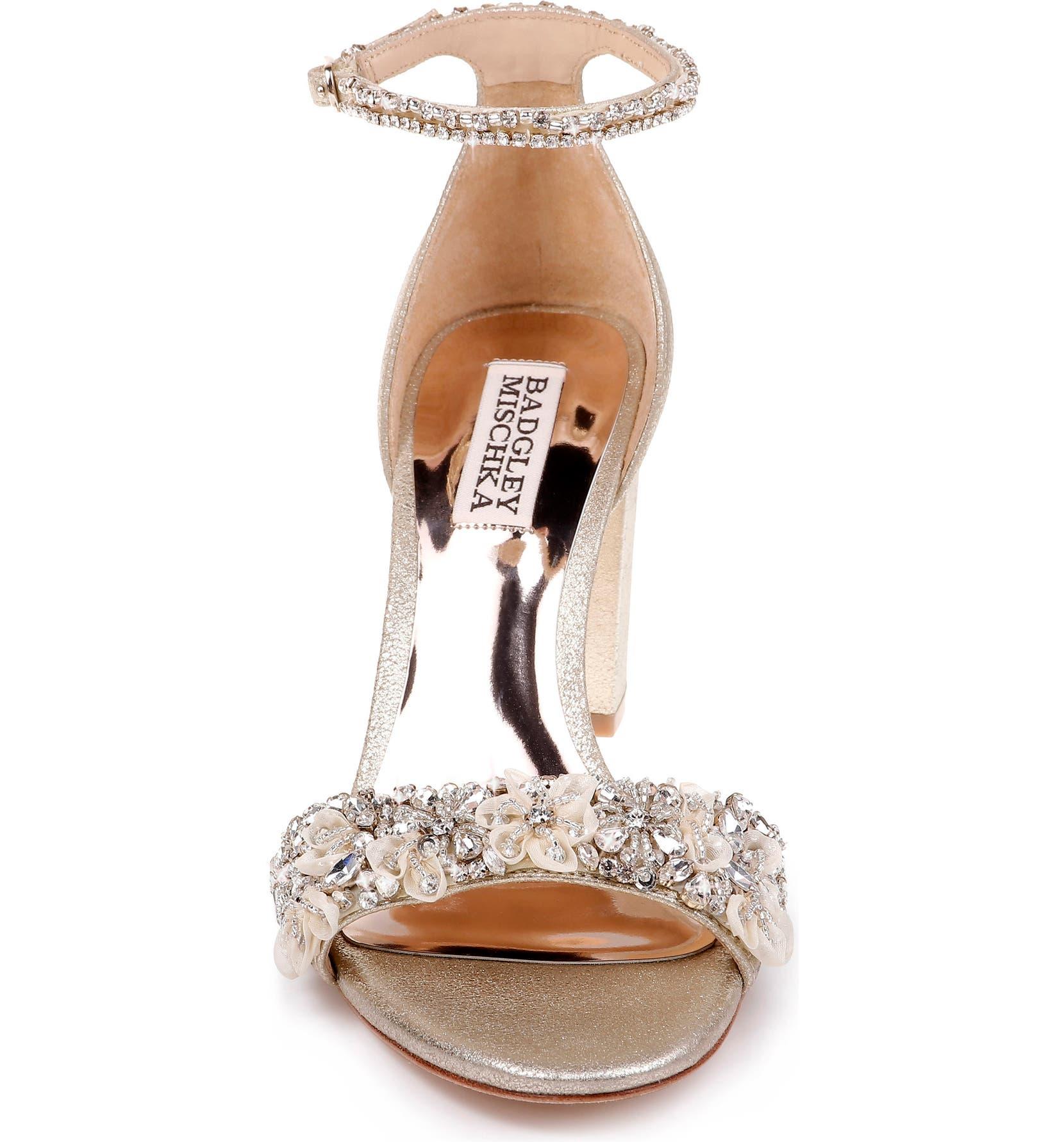 47114f45892 Badgley Mischka Finesse Embellished Ankle Strap Sandal (Women ...