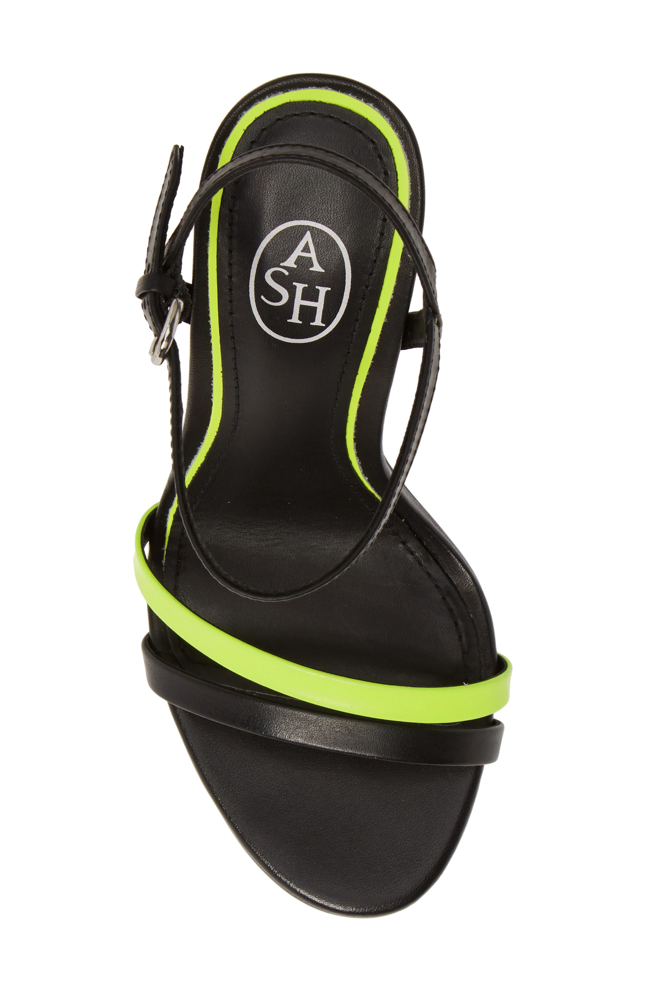 ASH, Glam Sandal, Alternate thumbnail 5, color, BLACK/ YELLOW