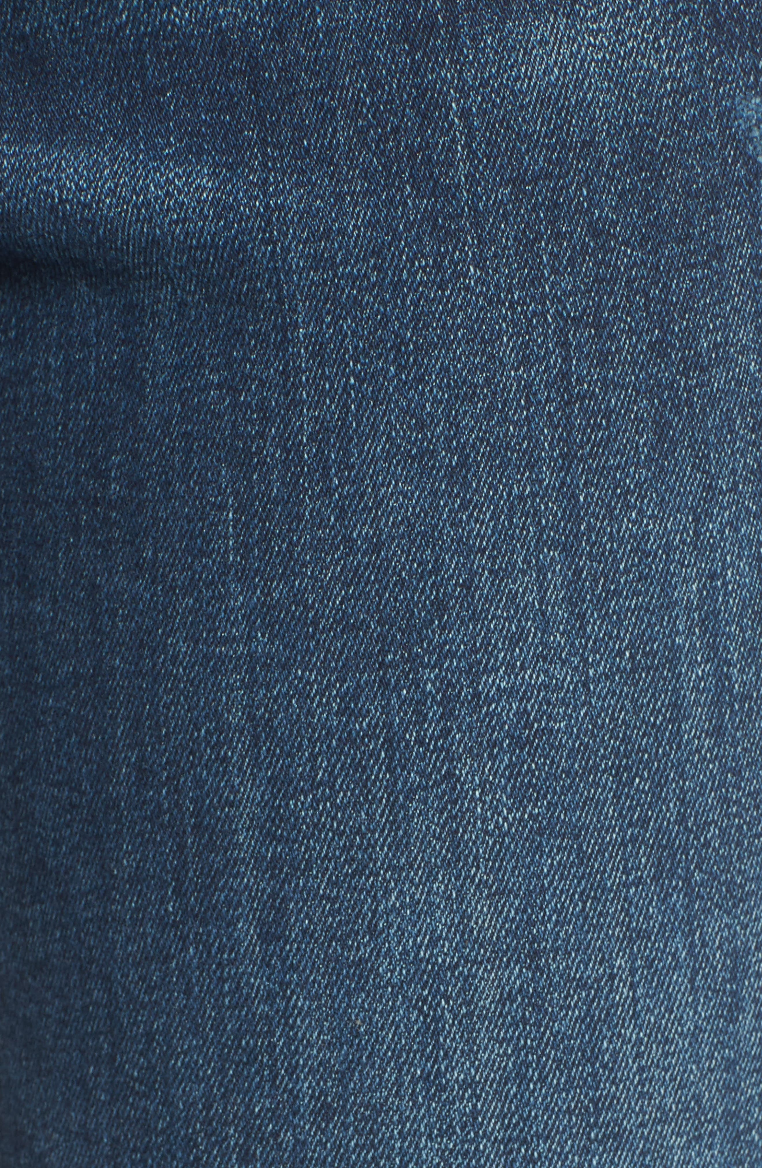 DL1961, Mara Ankle Straight Leg Jeans, Alternate thumbnail 6, color, RAVINE