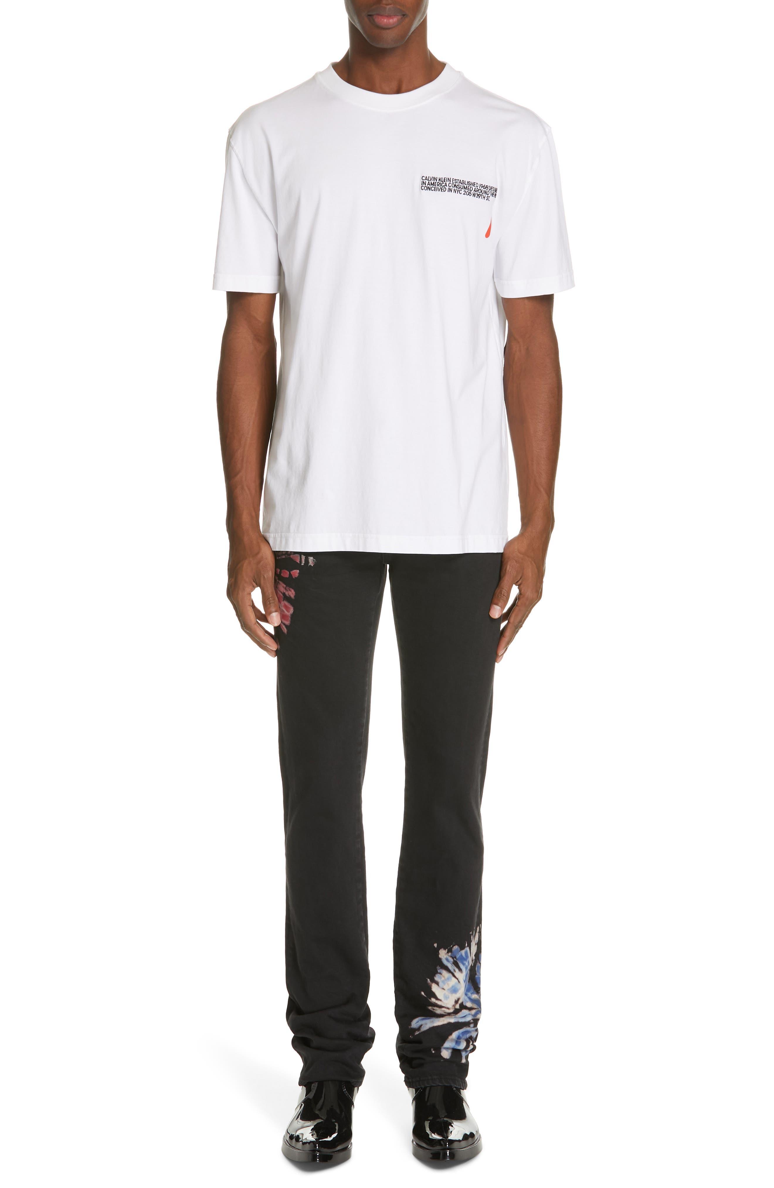 CALVIN KLEIN 205W39NYC, Logo T-Shirt, Alternate thumbnail 7, color, OPTIC WHITE