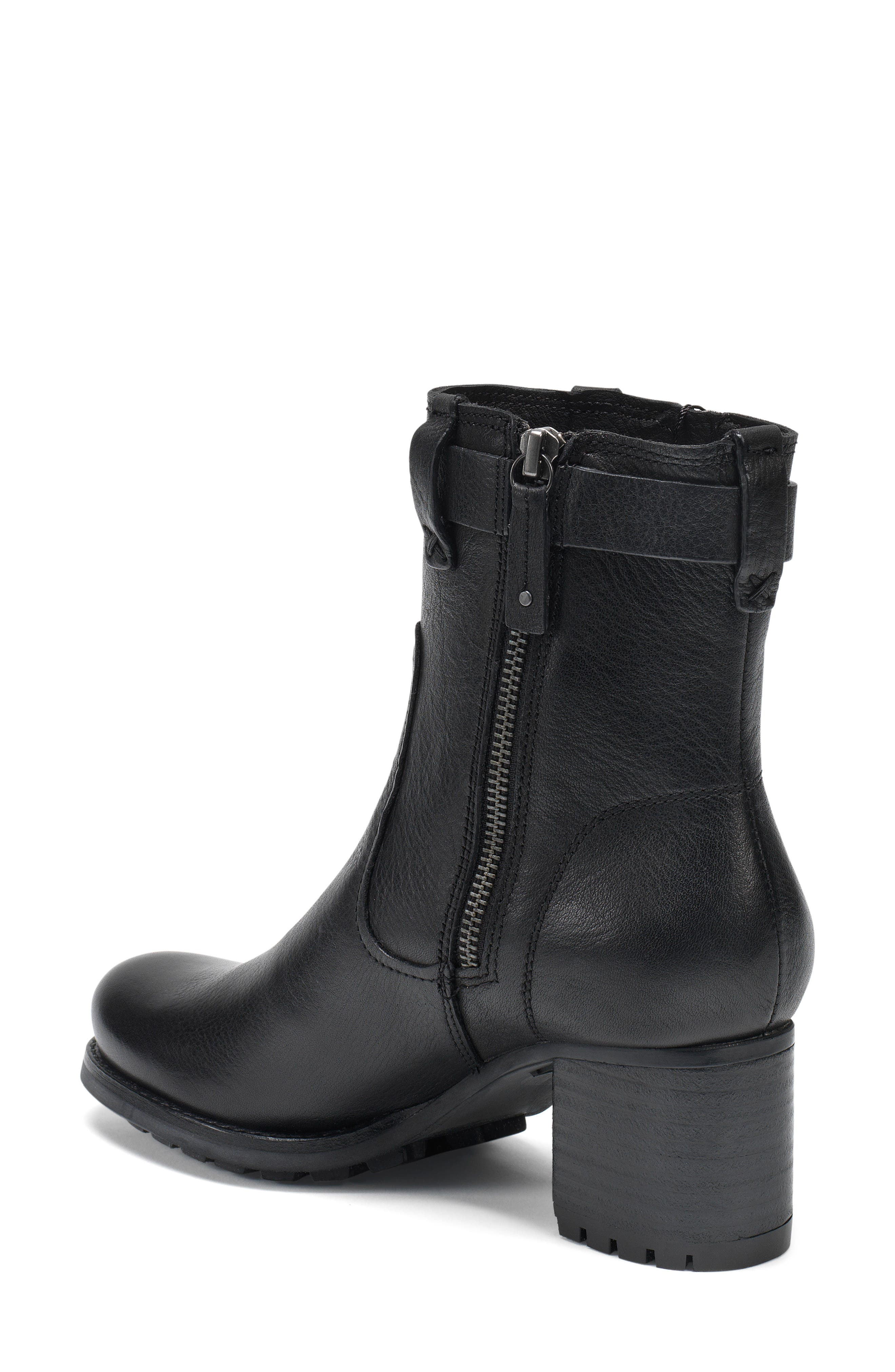 TRASK, Madison Waterproof Boot, Alternate thumbnail 2, color, BLACK LEATHER