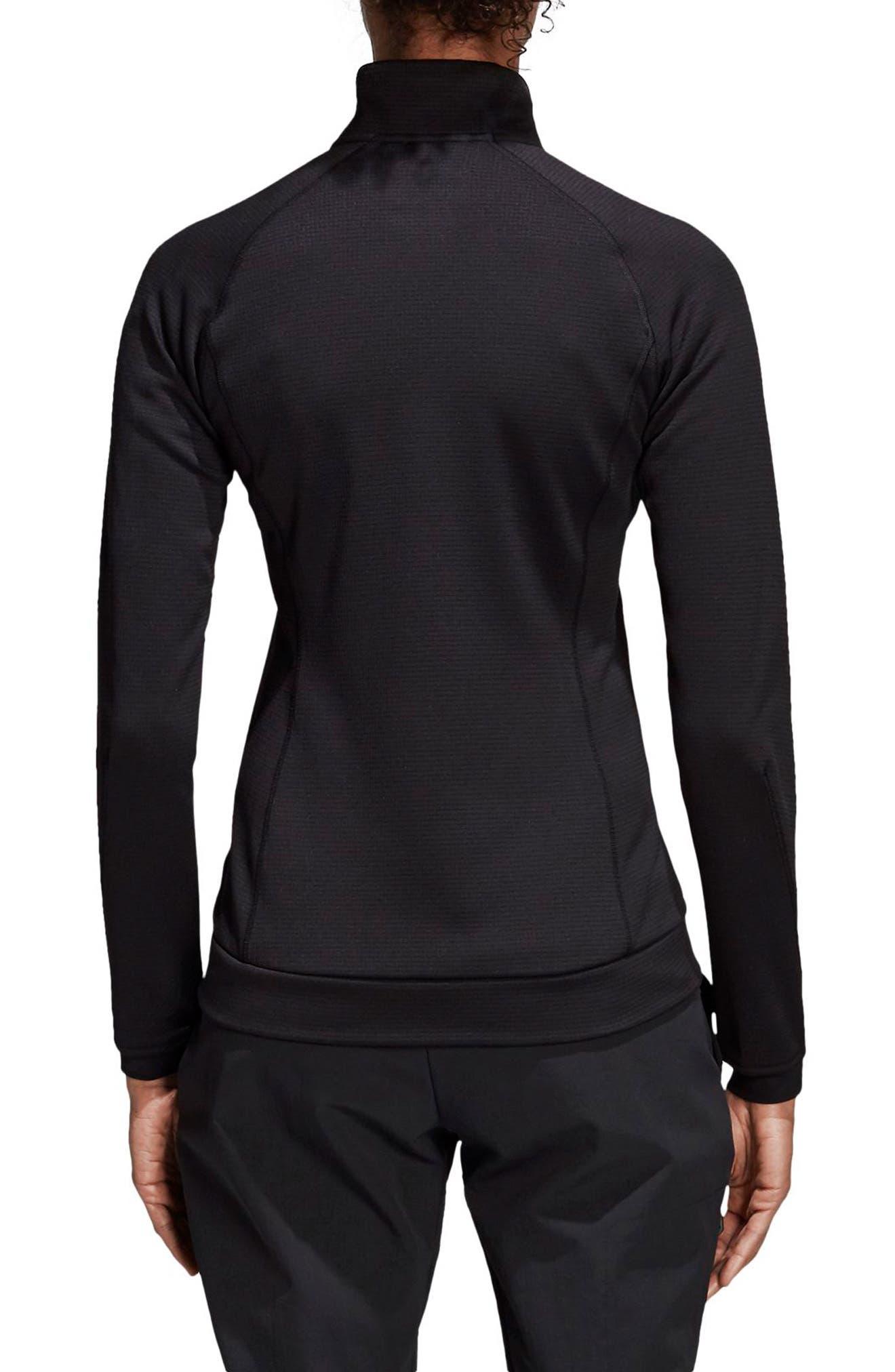 ADIDAS, Stockhorn Fleece Jacket, Alternate thumbnail 2, color, BLACK