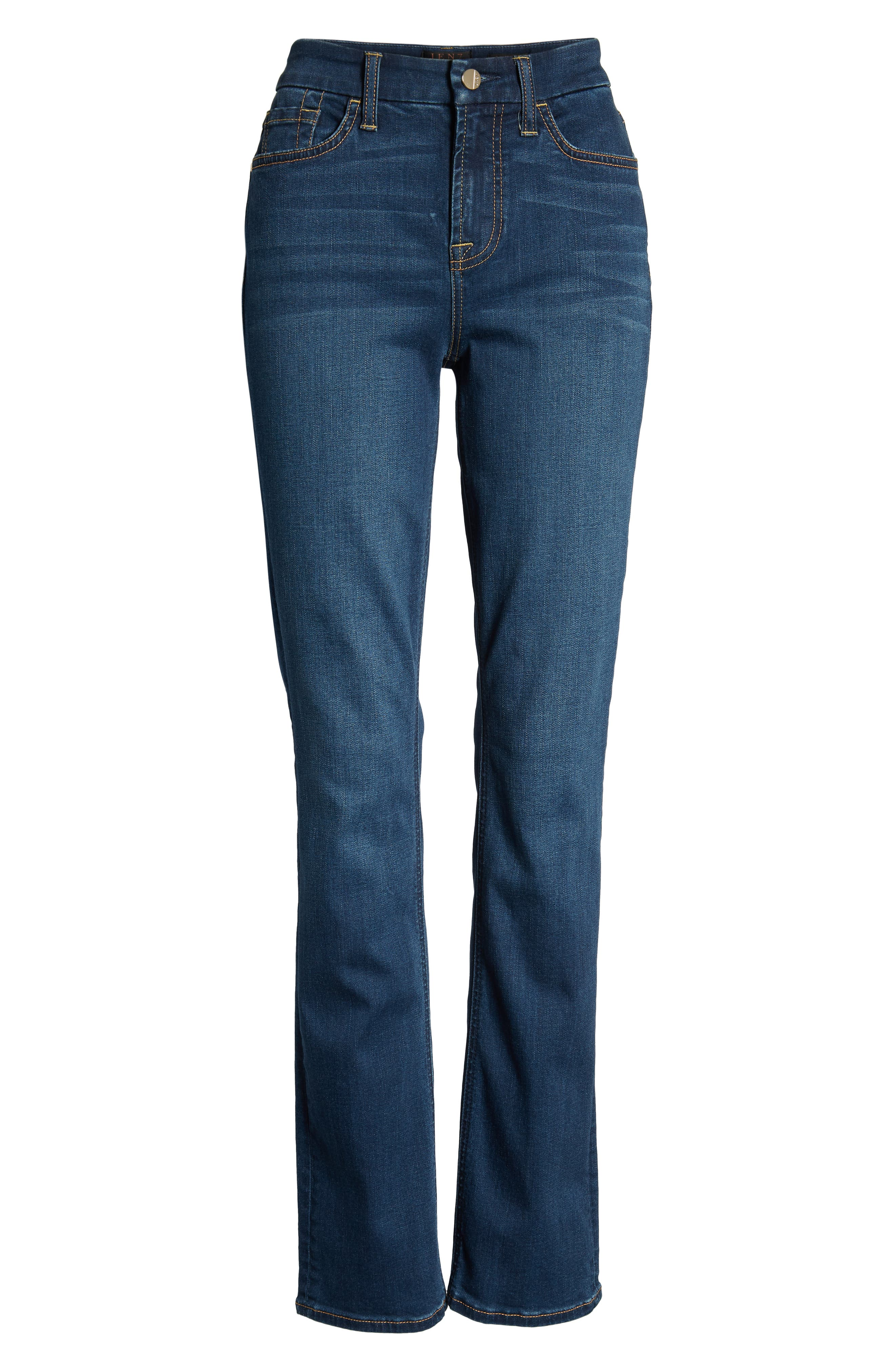 JEN7 BY 7 FOR ALL MANKIND, Slim Straight Leg Jeans, Alternate thumbnail 7, color, 404