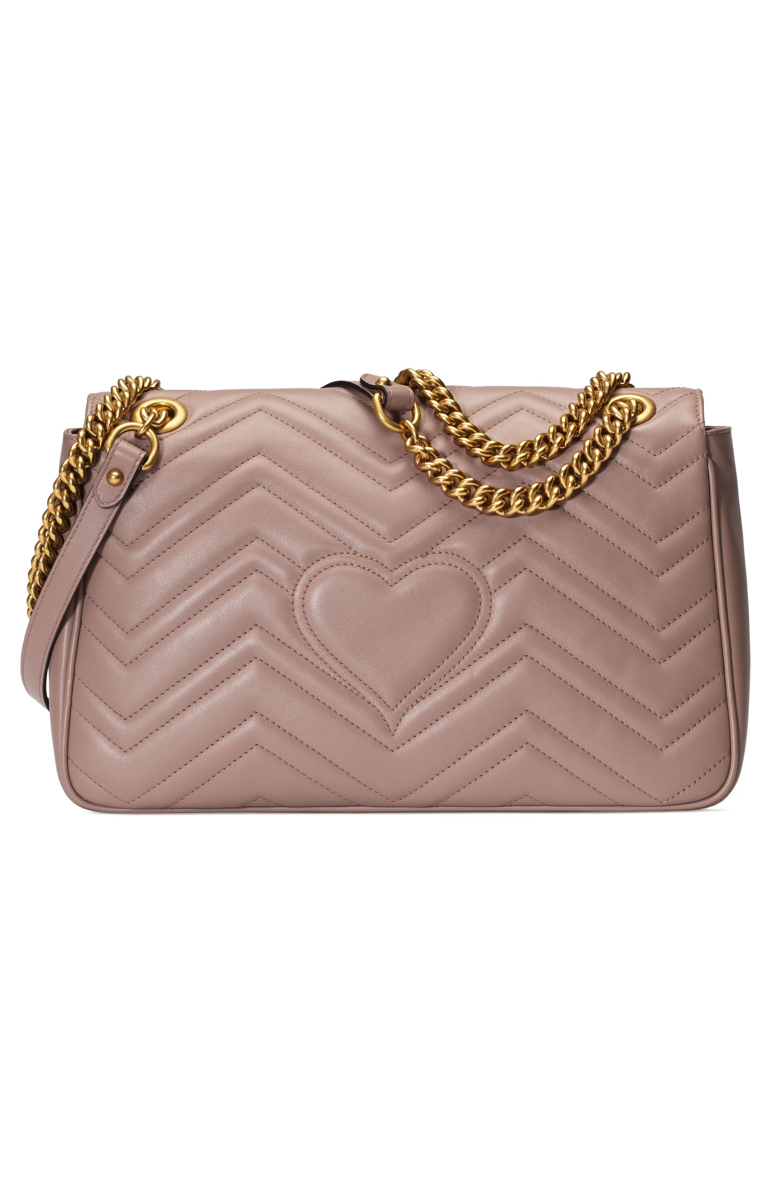 GUCCI, Medium GG Marmont 2.0 Matelassé Leather Shoulder Bag, Alternate thumbnail 2, color, PORCELAIN ROSE/ PORCELAIN ROSE