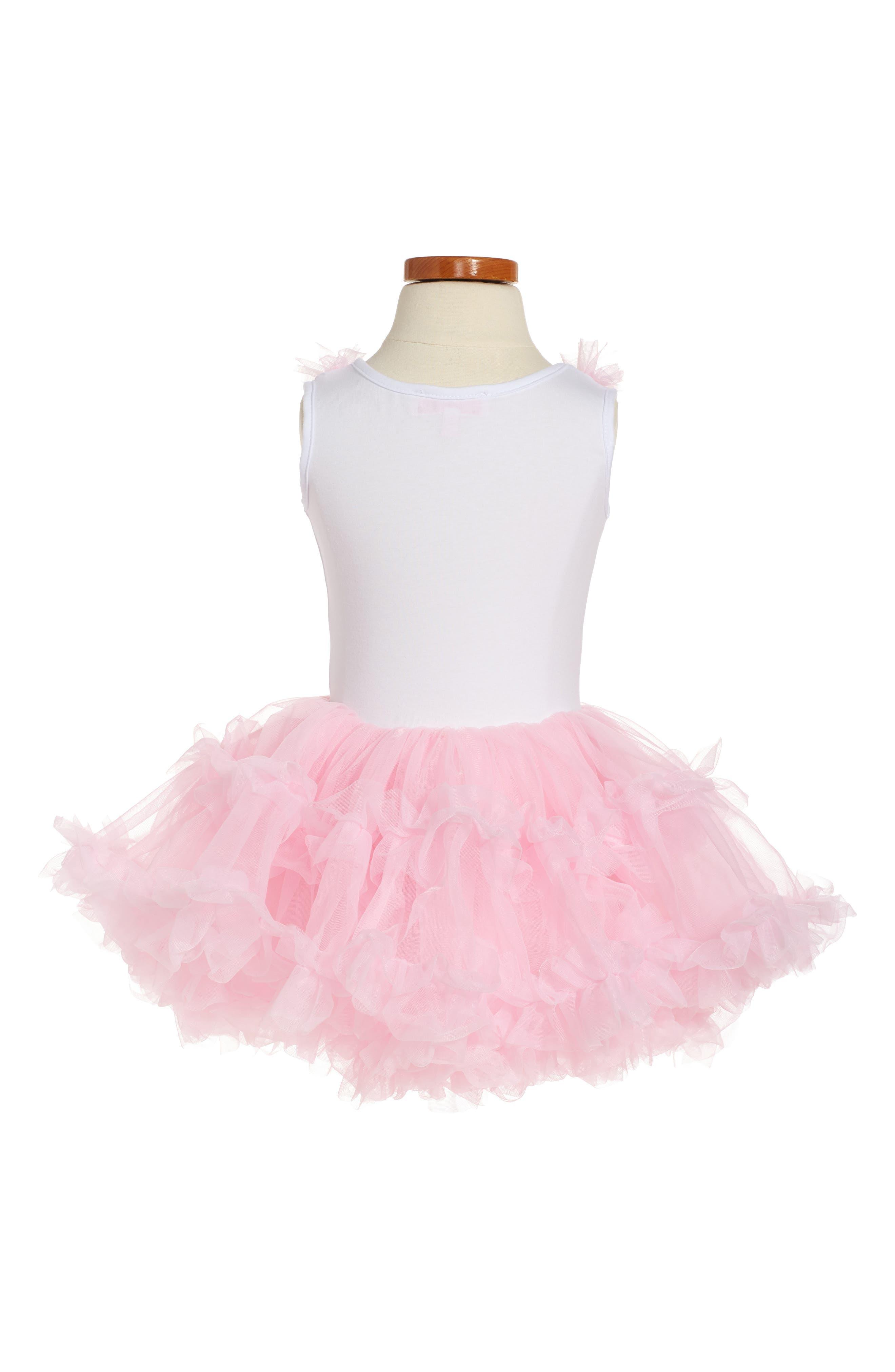 POPATU, Birthday Print Tutu Dress, Alternate thumbnail 2, color, PINK