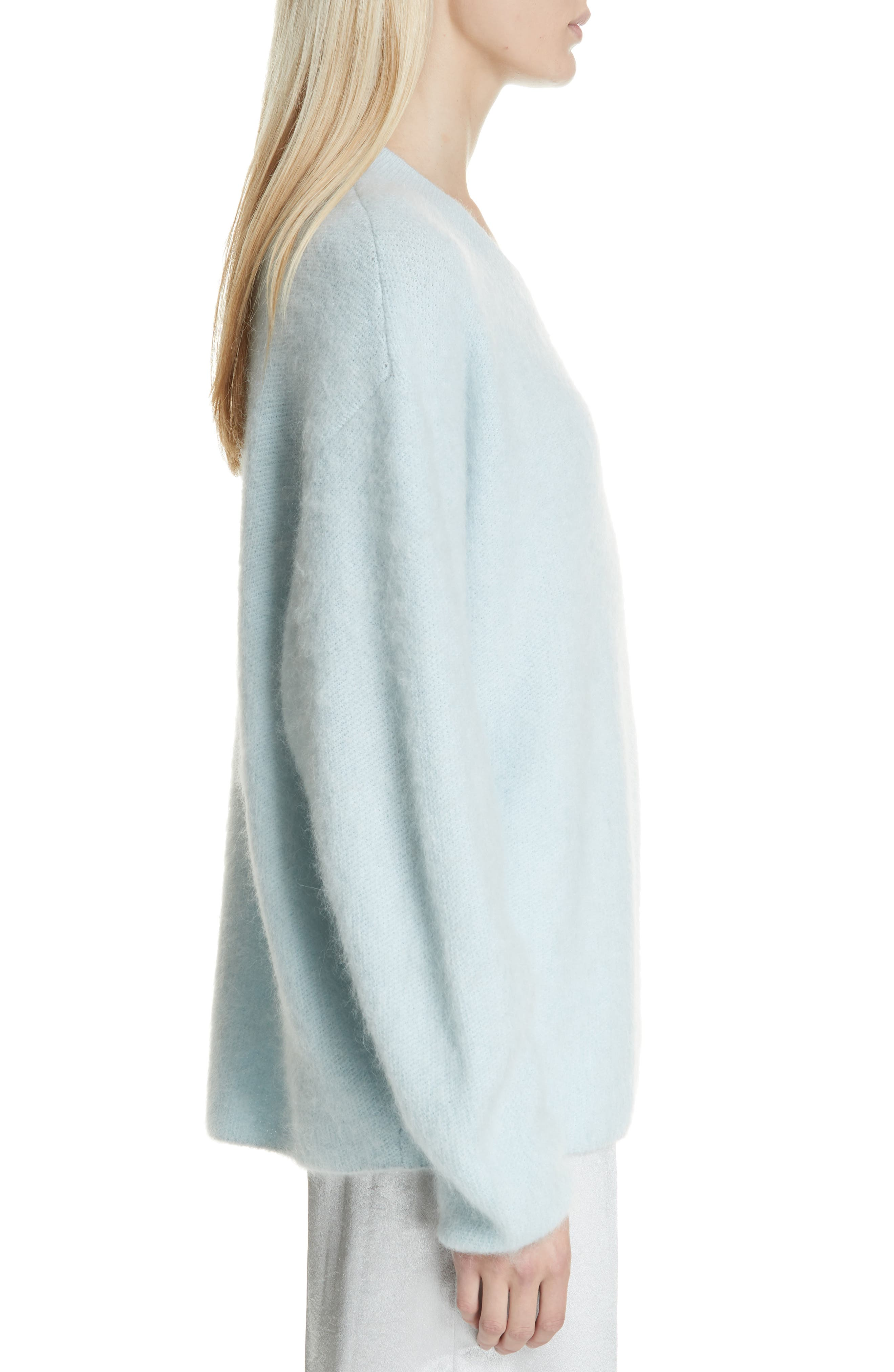 VINCE, Oversize Sweater, Alternate thumbnail 3, color, ICE/ BLUE