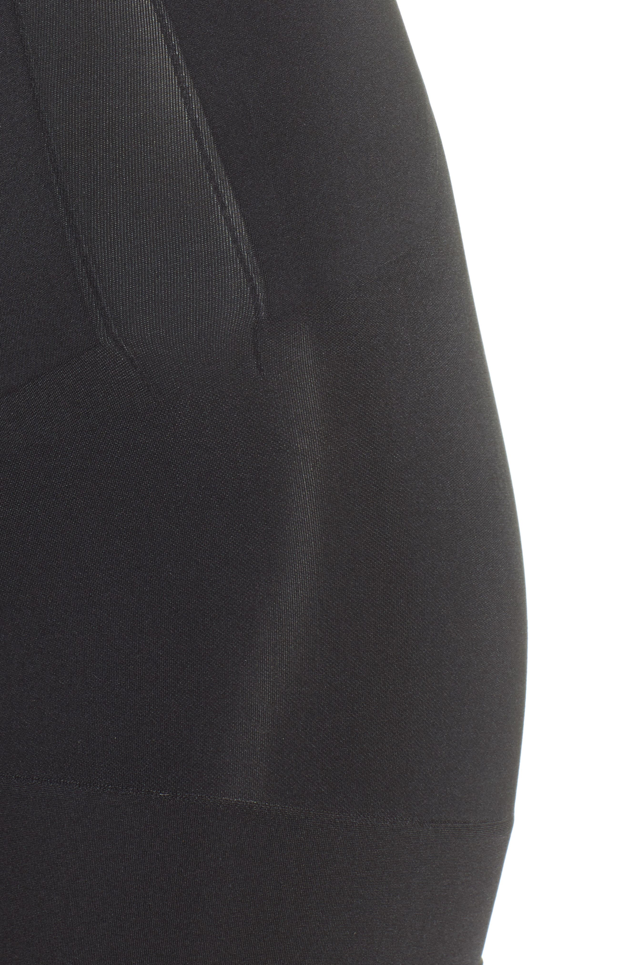 SPANX<SUP>®</SUP>, Oncore High Waist Mid Thigh Shaper, Alternate thumbnail 4, color, BLACK