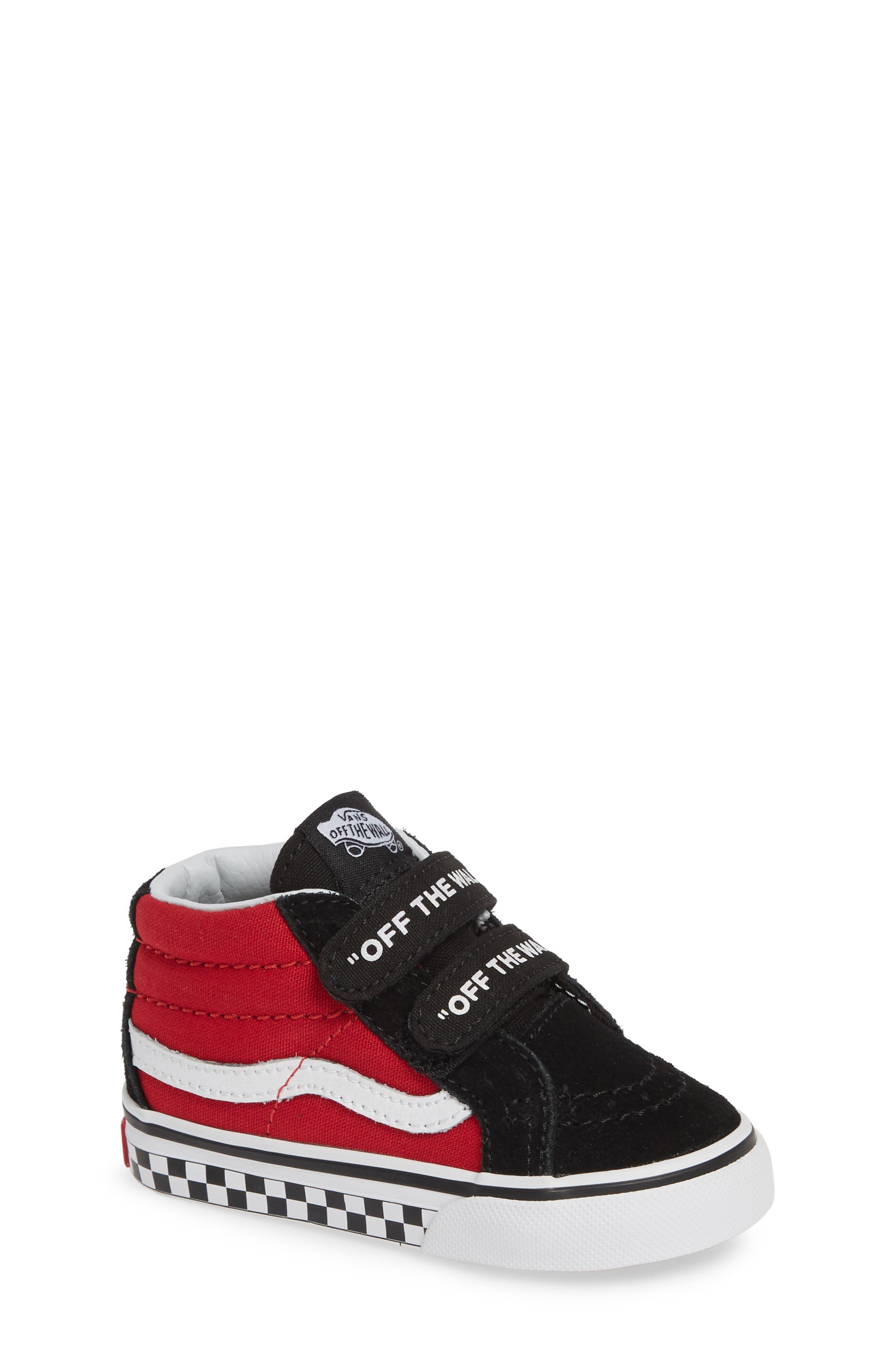VANS, 'Sk8-Mid Reissue' Sneaker, Main thumbnail 1, color, BLACK/ RED / WHITE