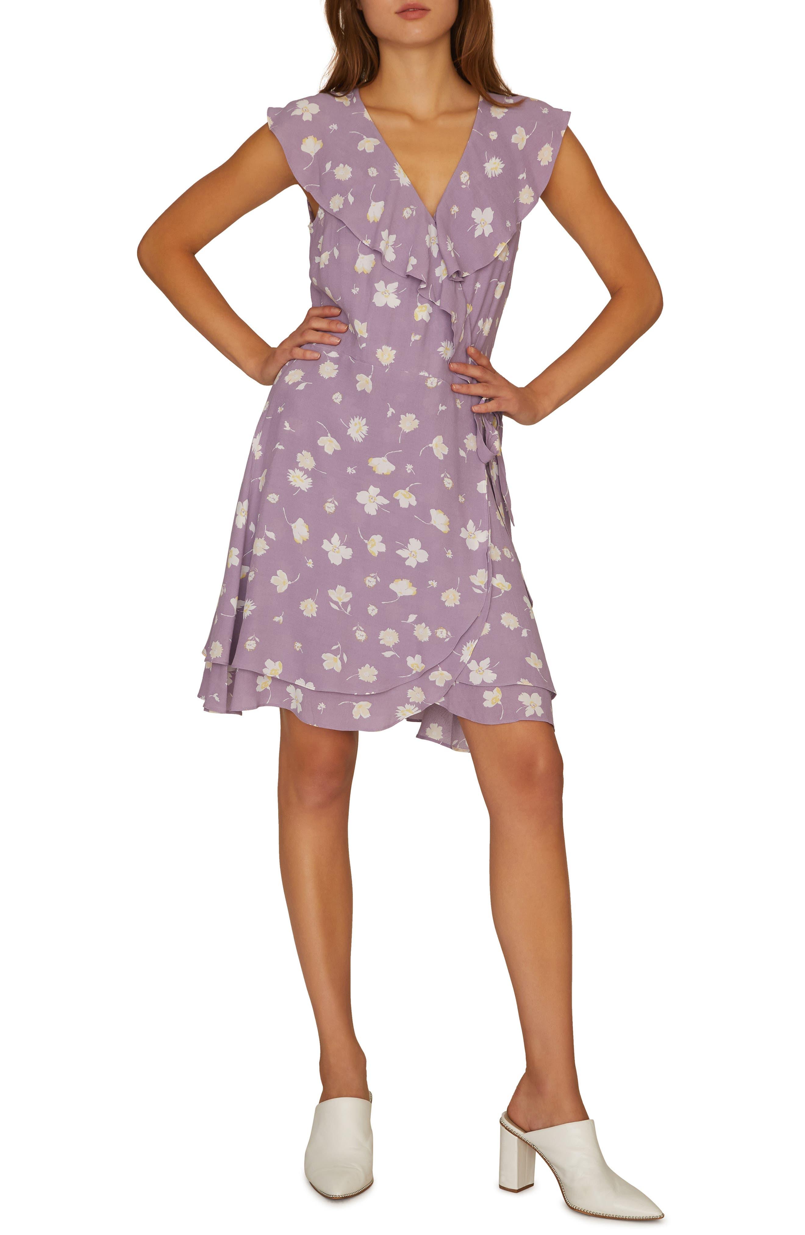 Sanctuary Johanna Wrap Dress, Purple