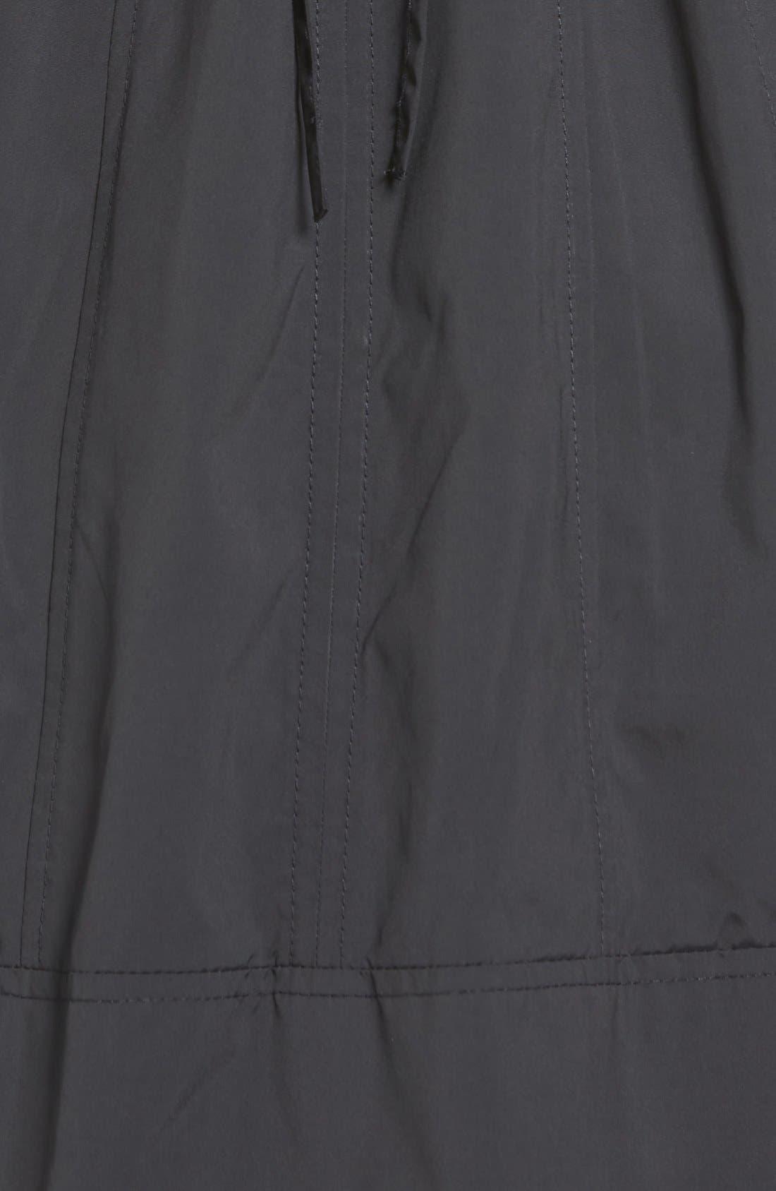 COLE HAAN SIGNATURE, Back Bow Packable Hooded Raincoat, Alternate thumbnail 7, color, BLACK