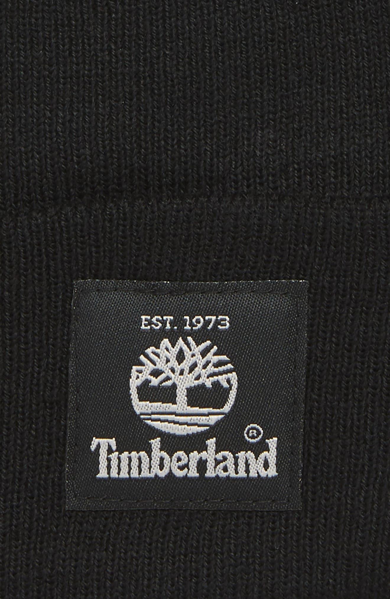 TIMBERLAND, Watch Cap, Alternate thumbnail 2, color, 001