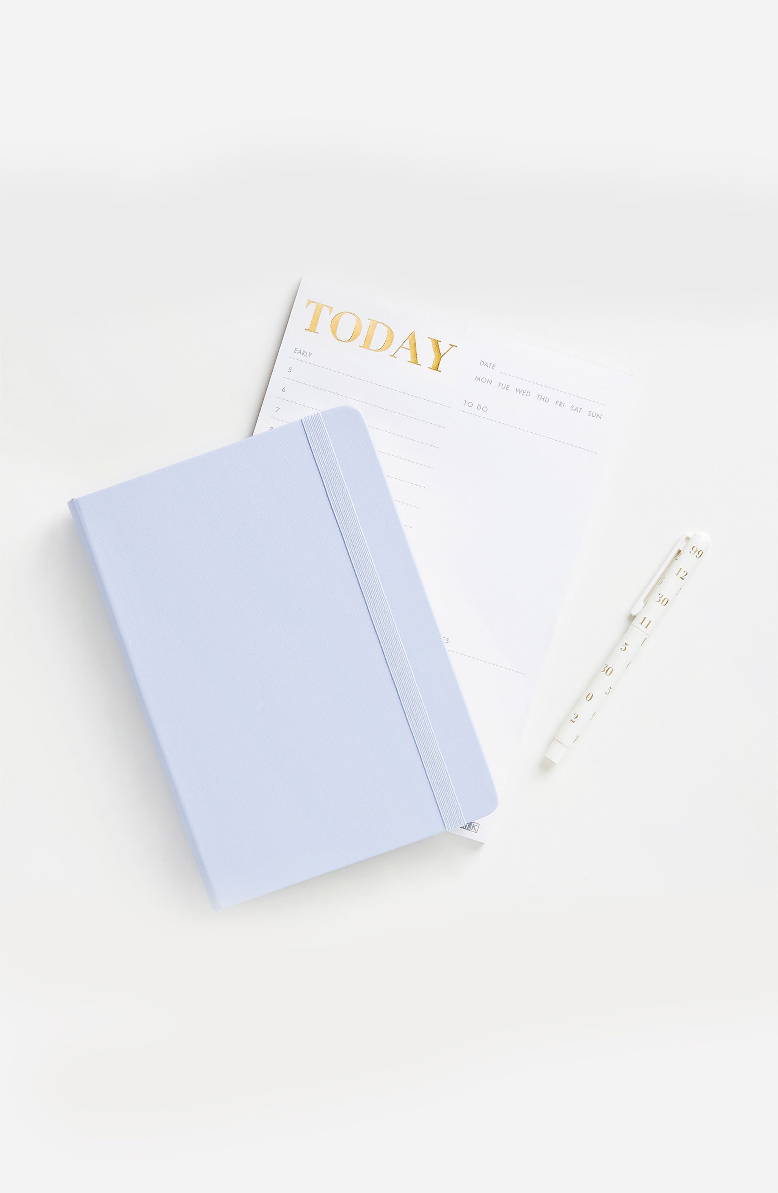 KIKKI.K, 'Time is Now' Leather Notebook, Alternate thumbnail 3, color, 400