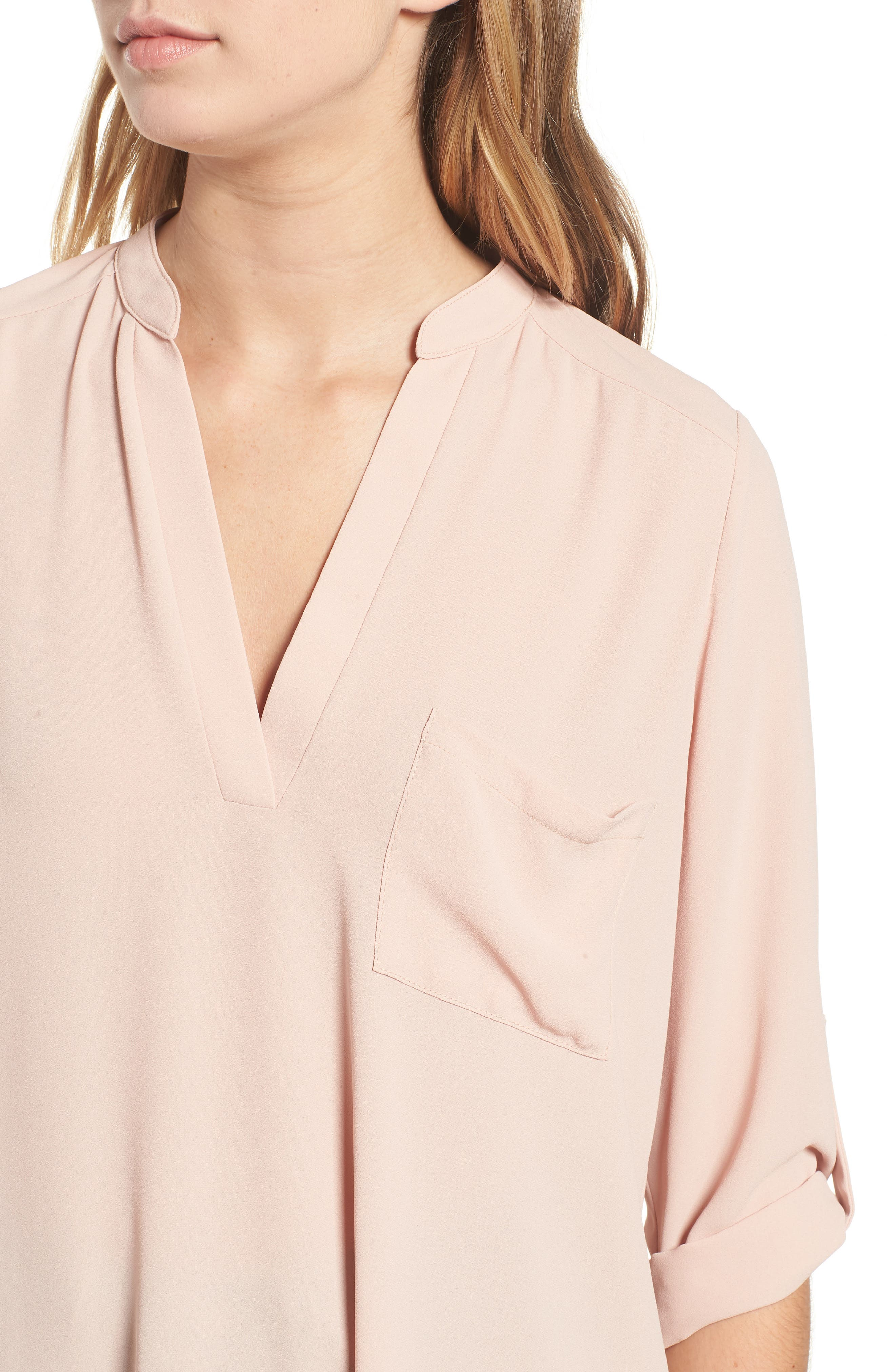 ---, Perfect Roll Tab Sleeve Tunic, Alternate thumbnail 4, color, 218