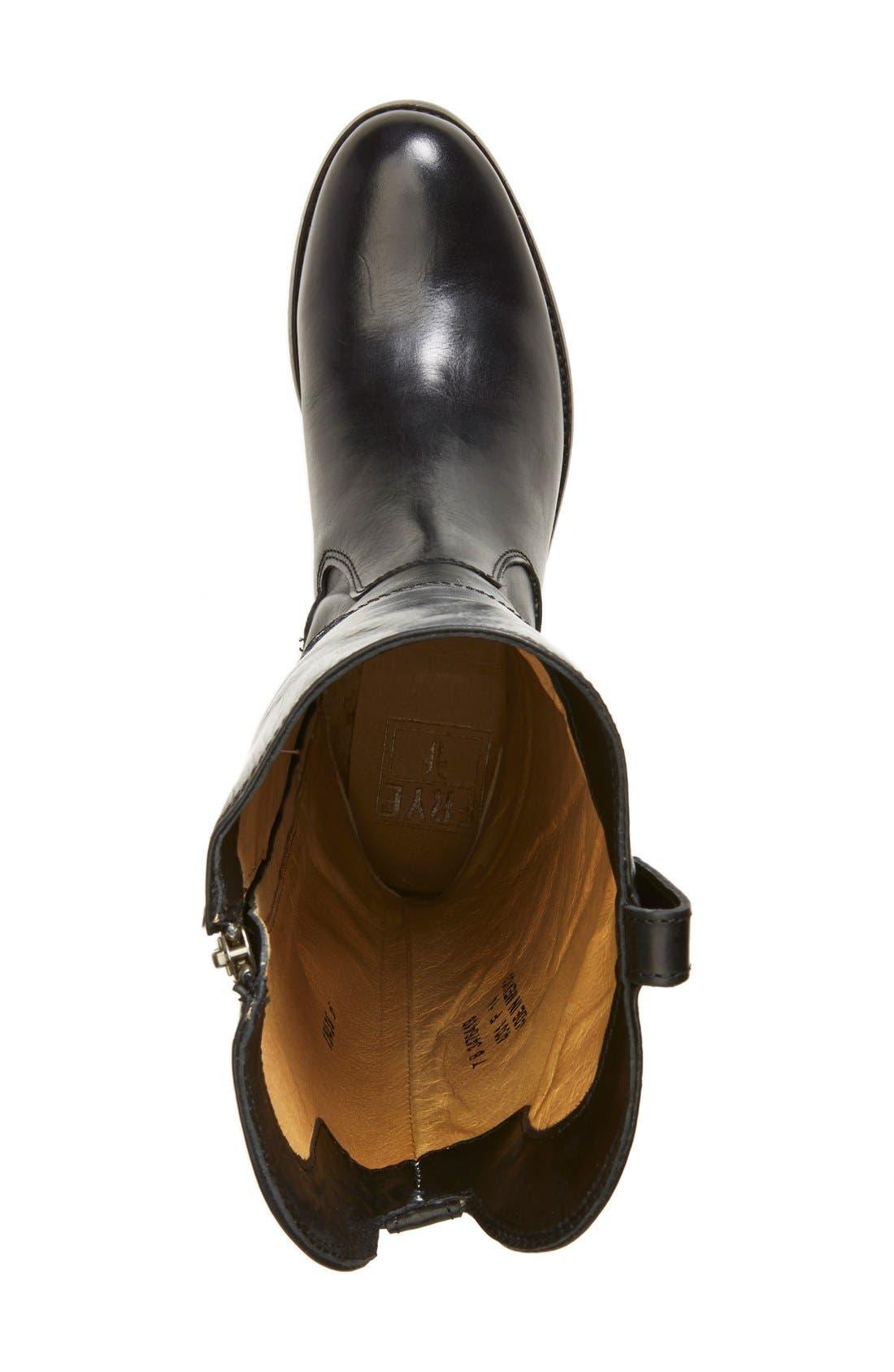 FRYE, 'Melissa Tab' Knee High Boot, Alternate thumbnail 2, color, 001