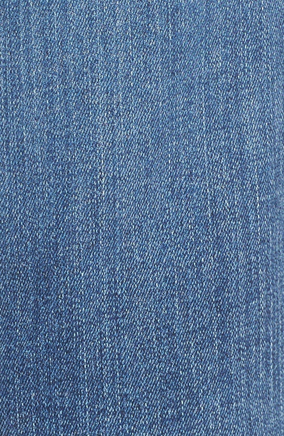 NYDJ, Marilyn Stretch Straight Leg Jeans, Alternate thumbnail 4, color, HEYBURN