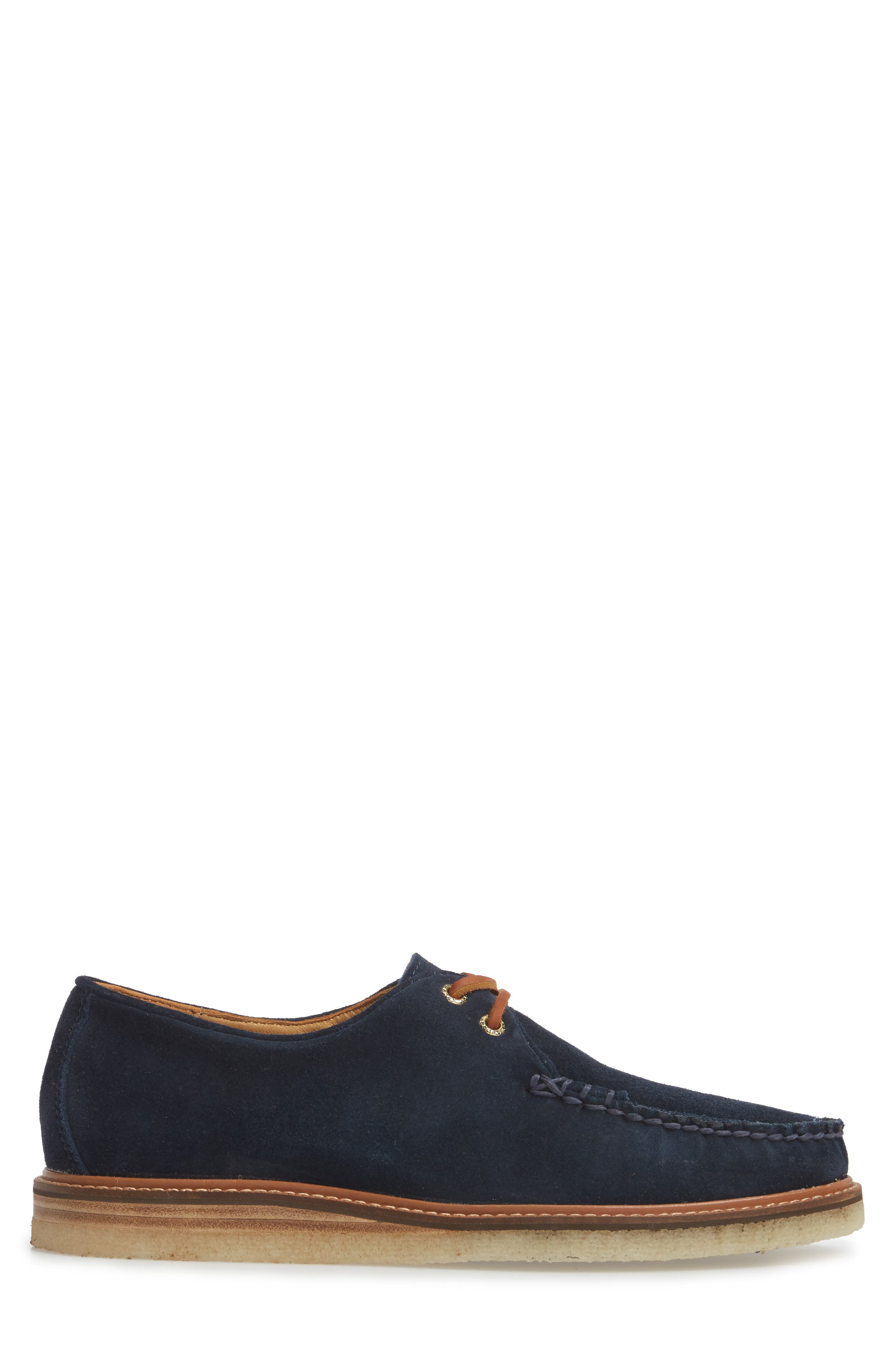 SPERRY, Gold Cup Captain's Crepe Sole Oxford, Alternate thumbnail 3, color, BLUE LEATHER/ SUEDE