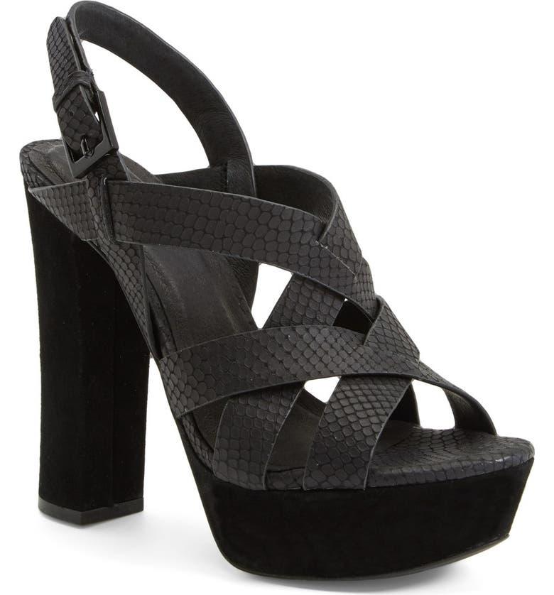 4af9b666ec89 Joie  Inez  Snake Embossed Leather Platform Sandal (Women)