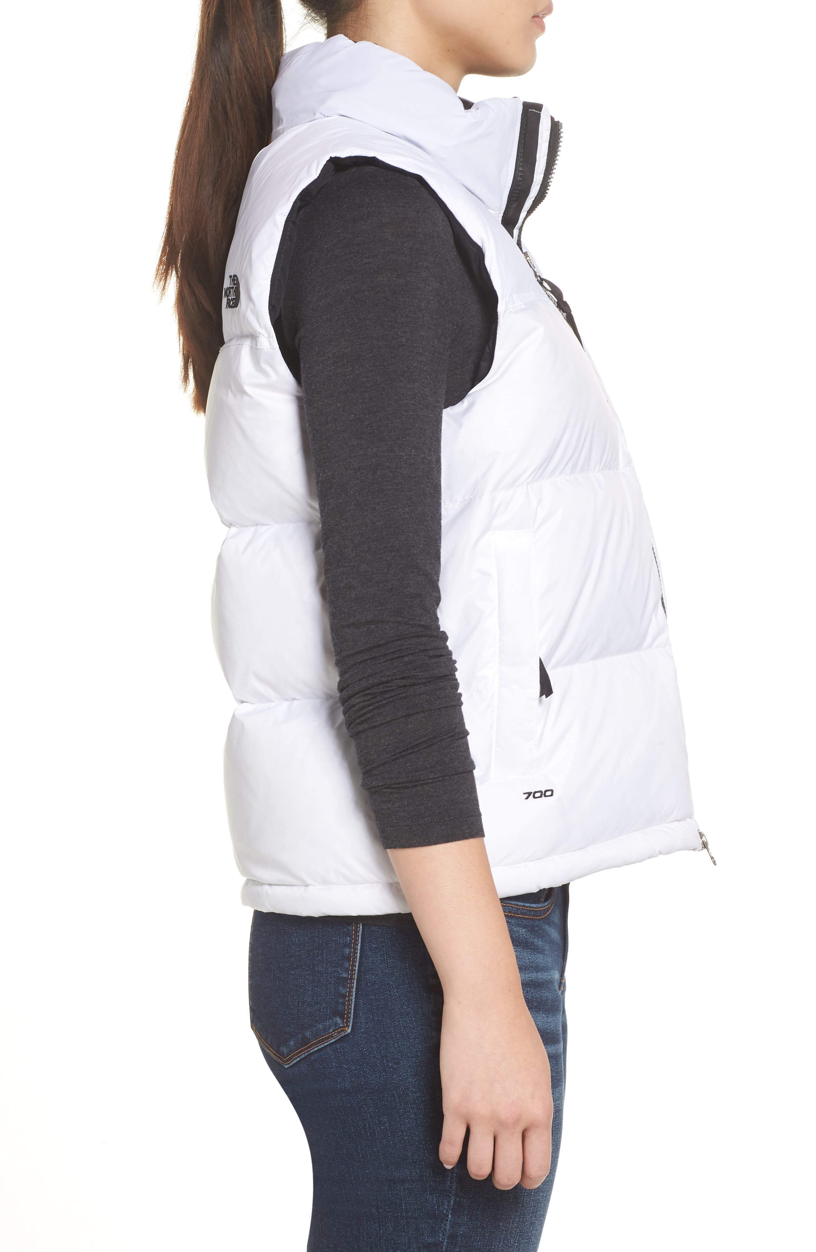 THE NORTH FACE, Nuptse 1996 Packable 700-Fill Power Down Vest, Alternate thumbnail 4, color, TNF WHITE