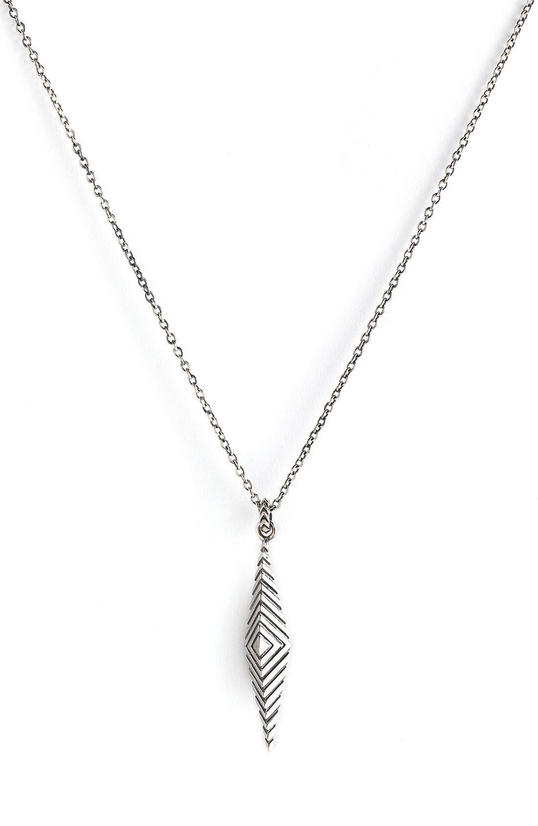 ELIZABETH AND JAMES, 'Deco' Pendant Necklace, Main thumbnail 1, color, 040