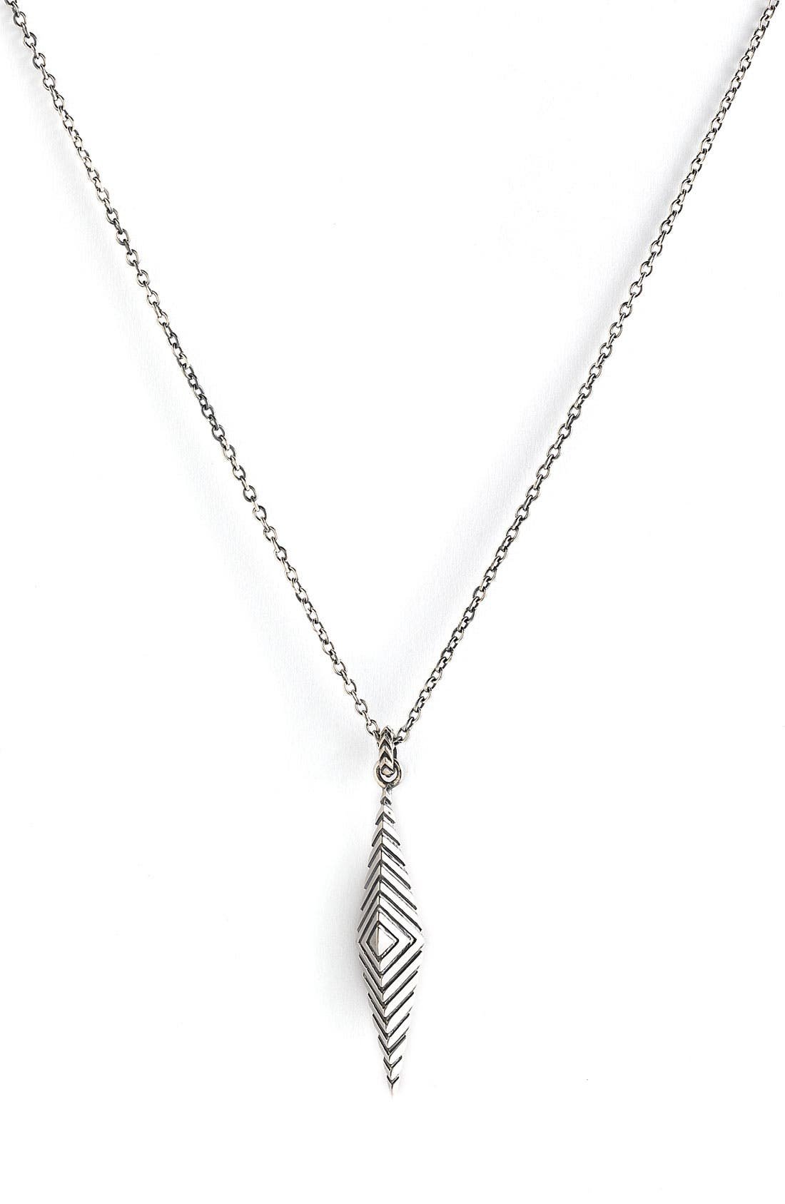 ELIZABETH AND JAMES 'Deco' Pendant Necklace, Main, color, 040