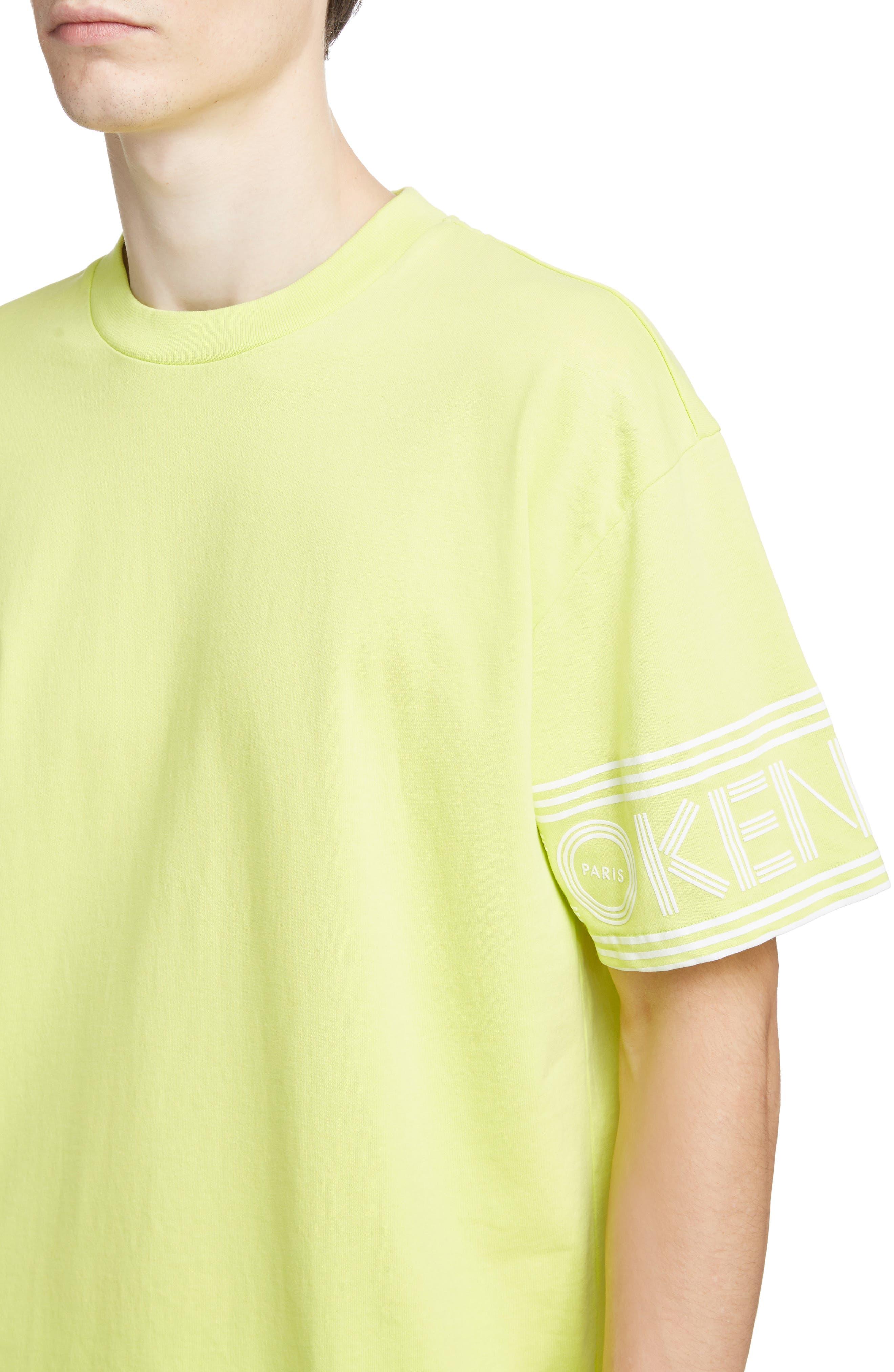 KENZO, Sport Logo T-Shirt, Alternate thumbnail 4, color, LEMON