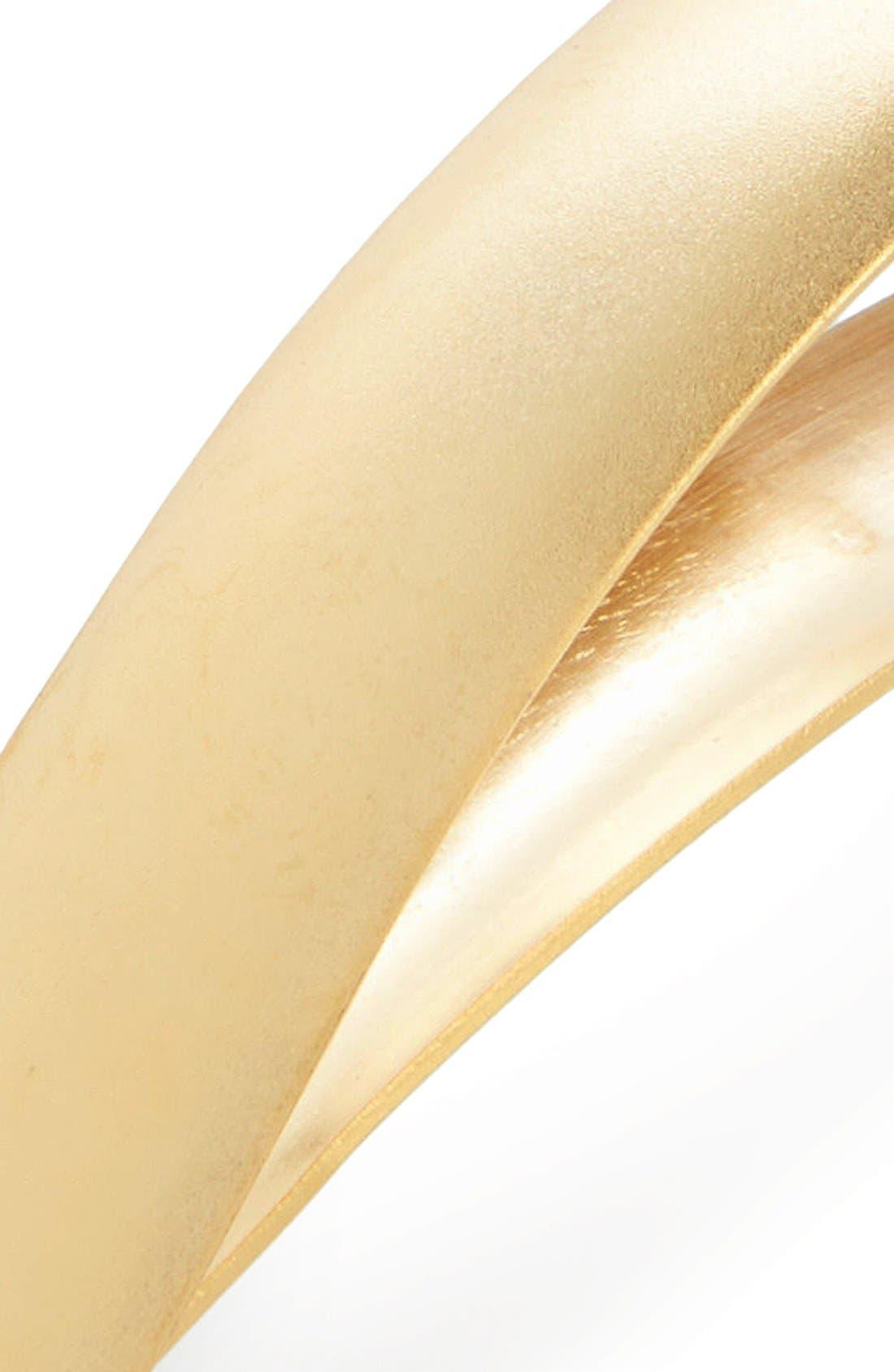 FICCARE, 'Ficcarissimo' Hair Clip, Alternate thumbnail 2, color, GOLD MATTE