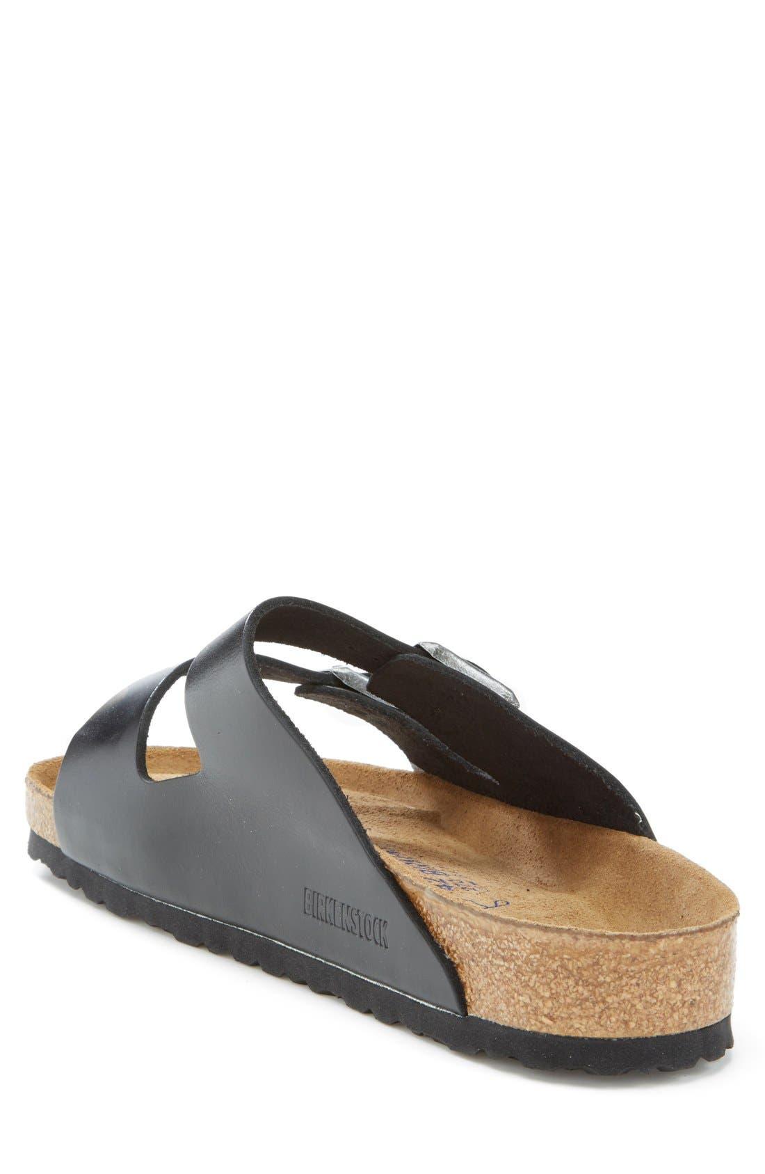 BIRKENSTOCK, 'Arizona Soft' Sandal, Alternate thumbnail 2, color, BLACK