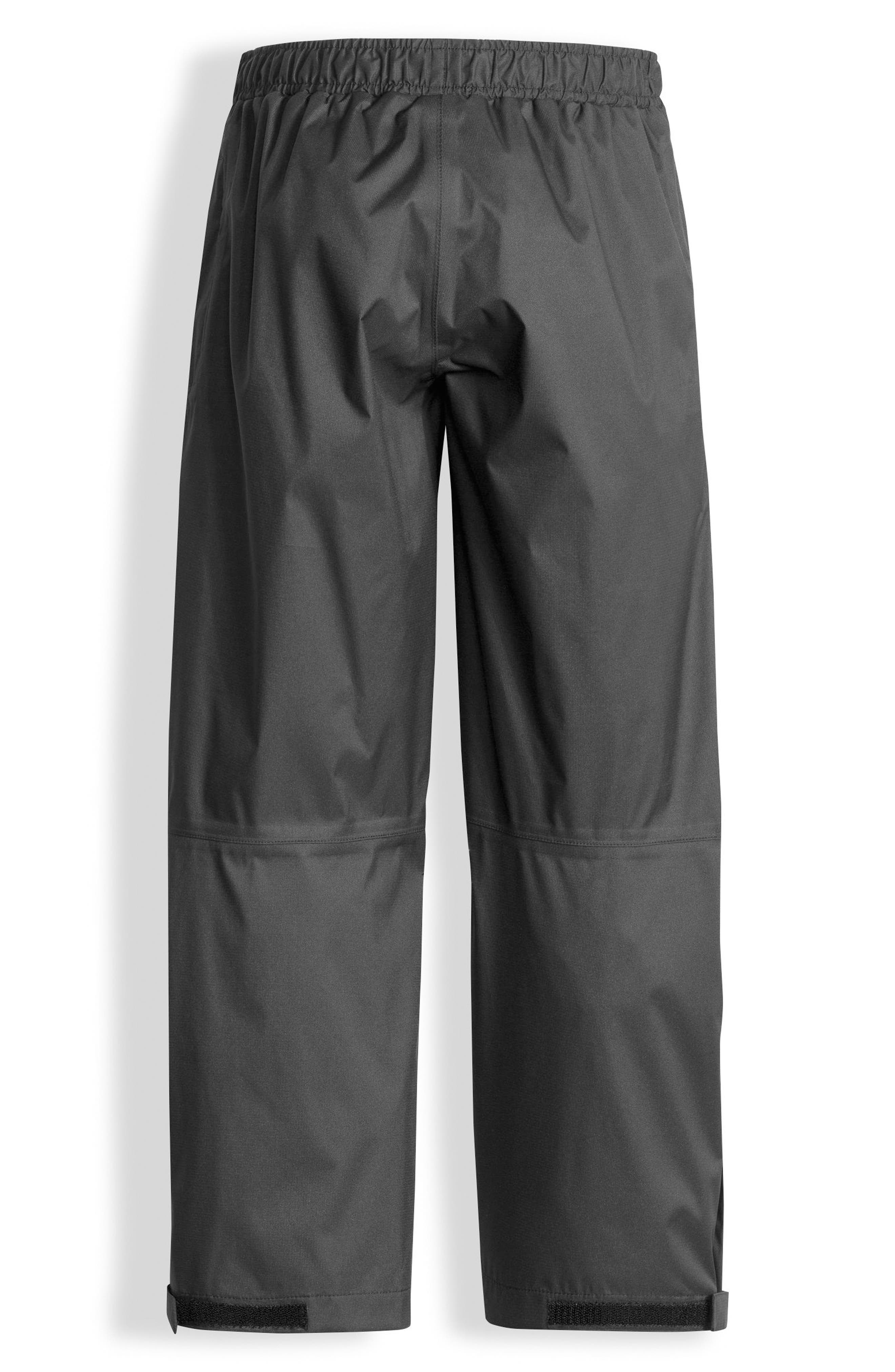 THE NORTH FACE, Resolve Waterproof Rain Pants, Alternate thumbnail 2, color, GRAPHITE GREY