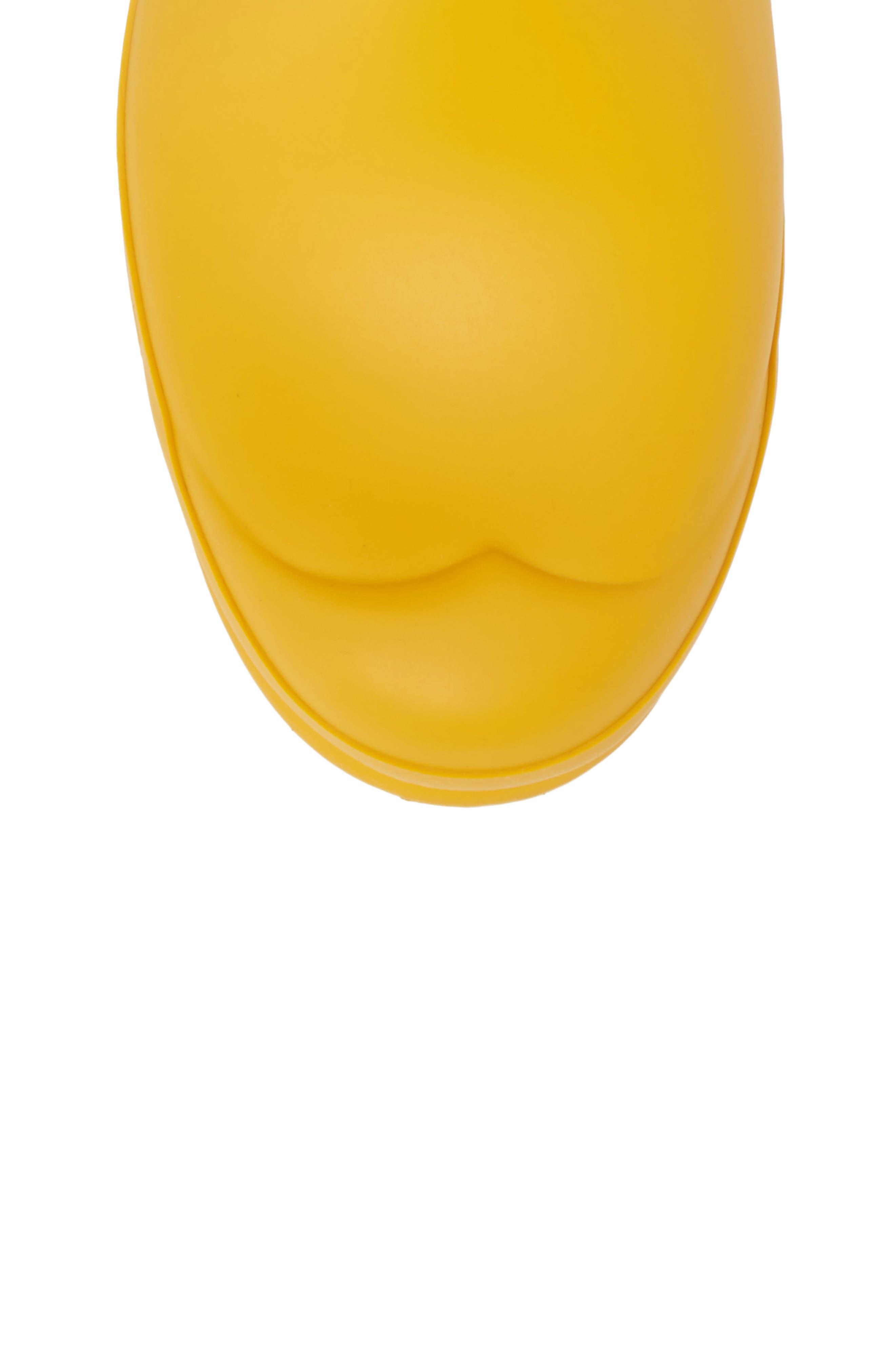HUNTER, Original Short Waterproof Rain Boot, Alternate thumbnail 5, color, YELLOW/ YELLOW