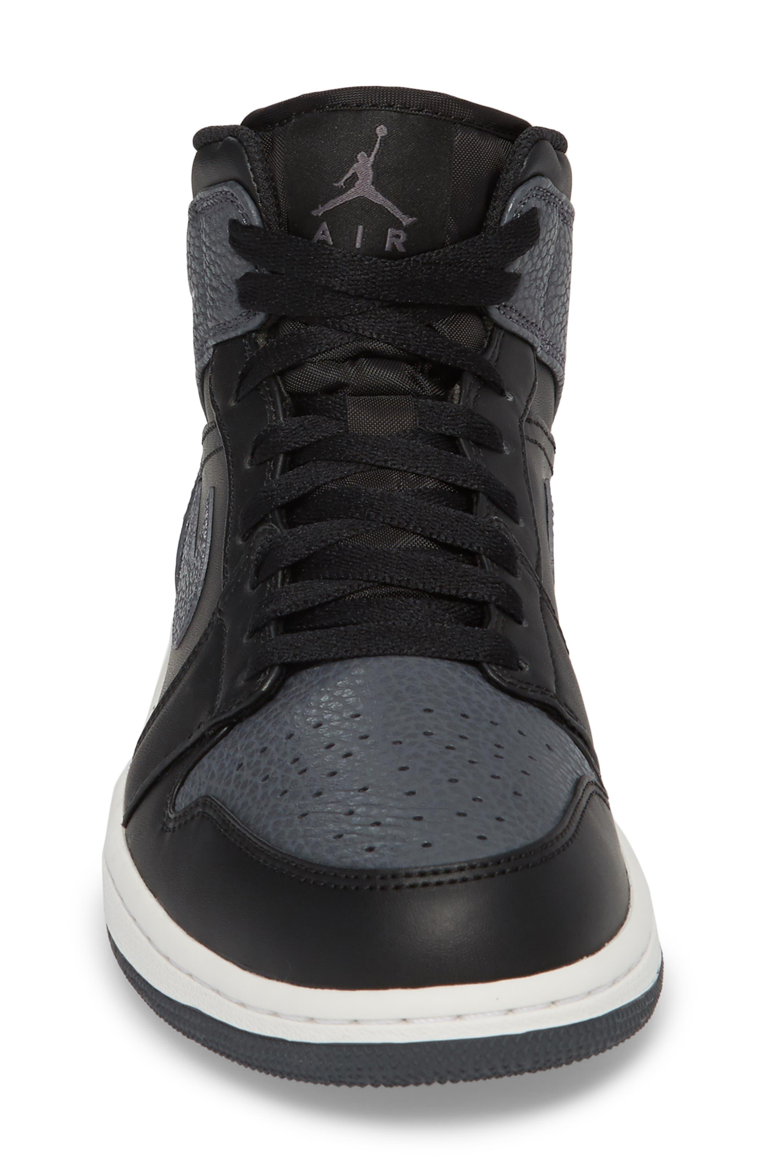 NIKE, 'Air Jordan 1 Mid' Sneaker, Alternate thumbnail 4, color, 001