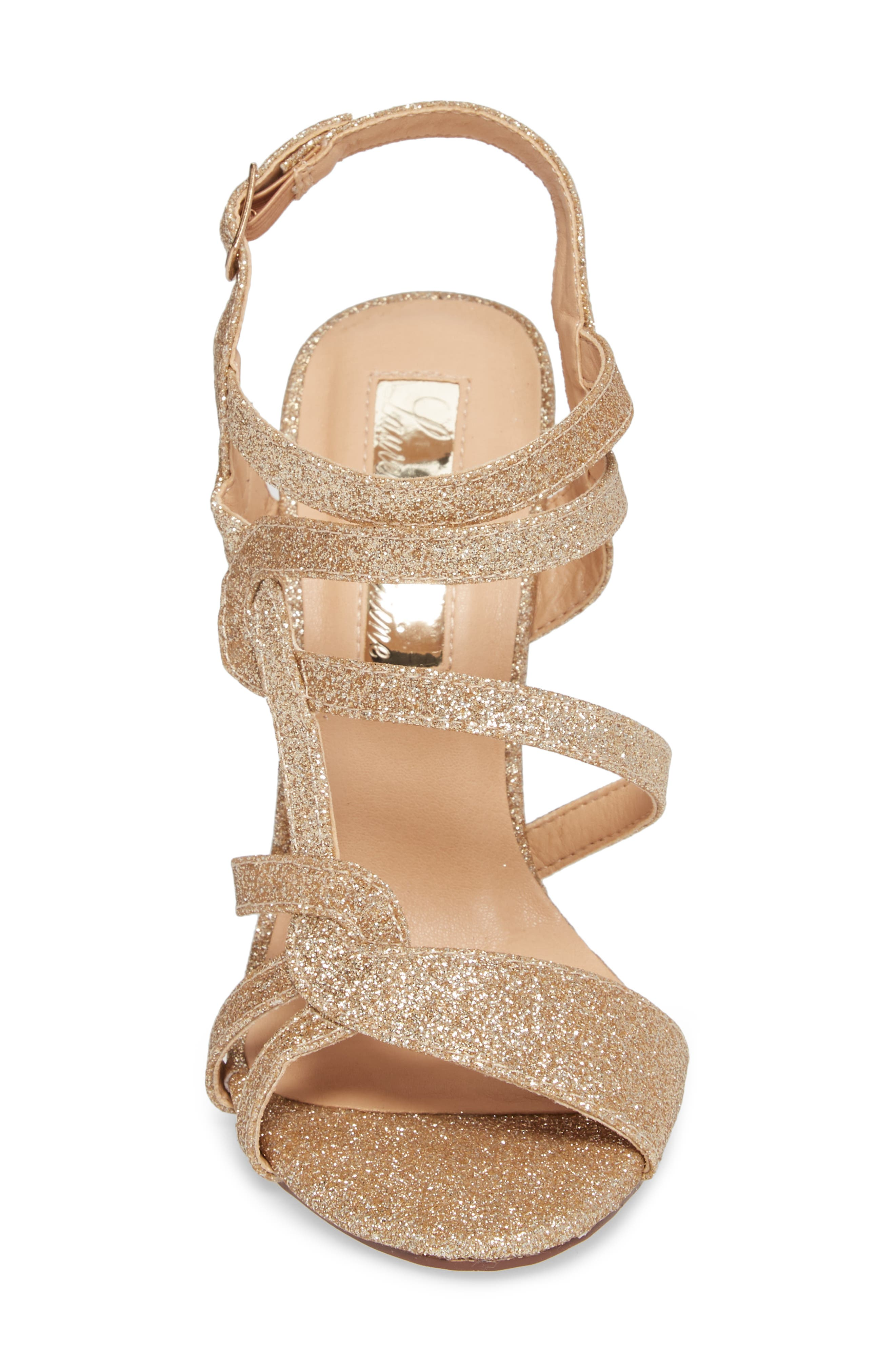 LAUREN LORRAINE, Gidget Sandal, Alternate thumbnail 4, color, NUDE FABRIC
