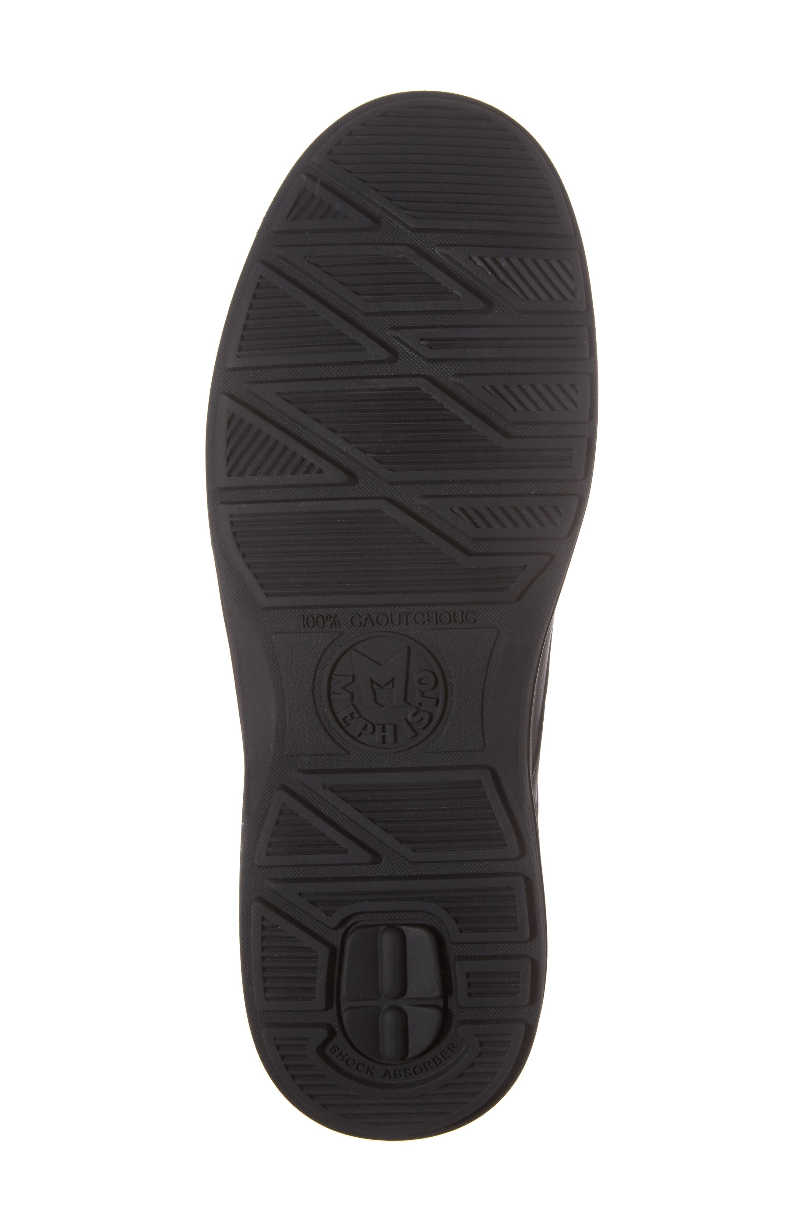 MEPHISTO, Douk HydroProtect Waterproof Moc Toe Derby, Alternate thumbnail 6, color, BLACK CALFSKIN