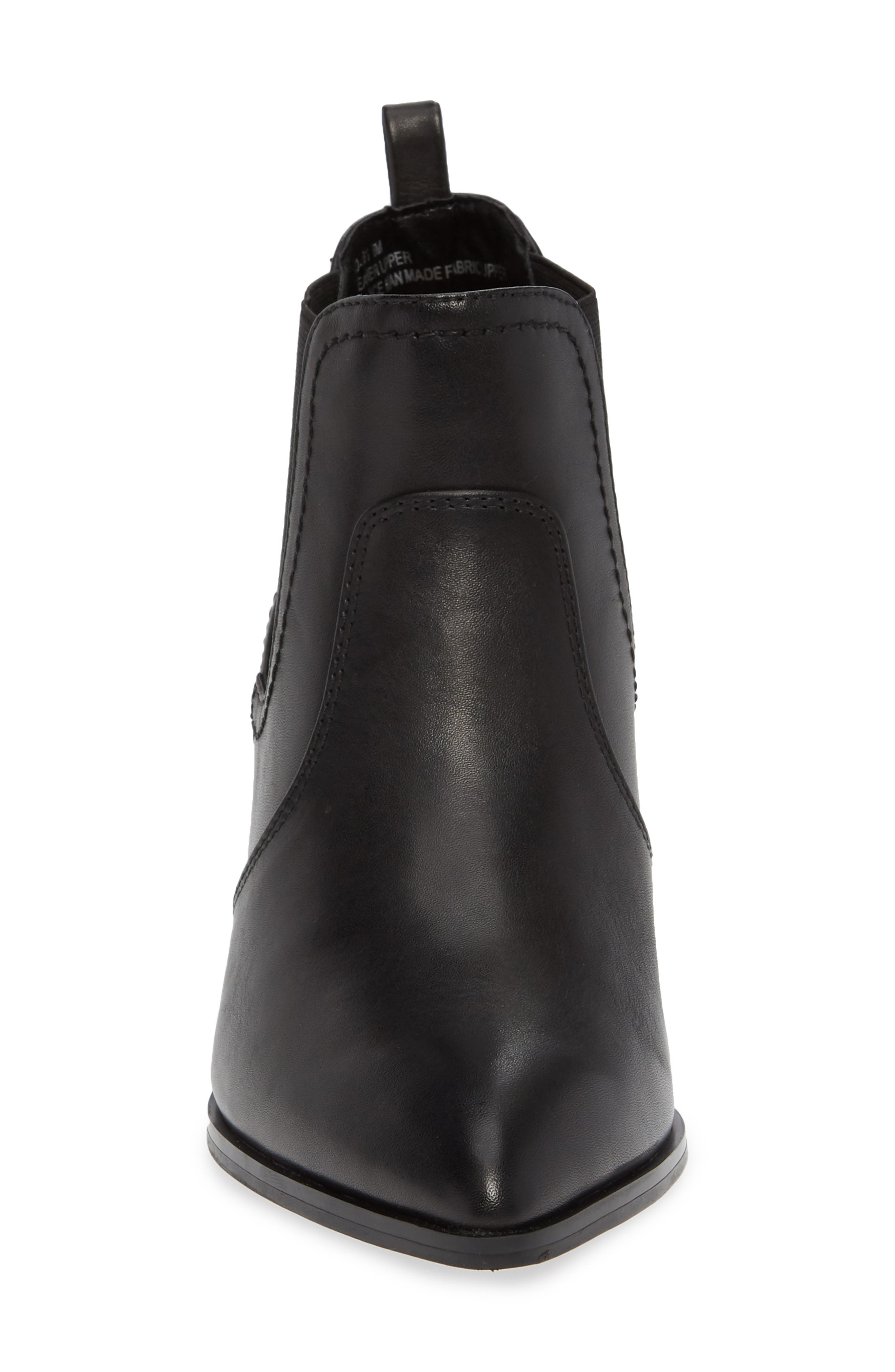 BELLA VITA, Emerson Chelsea Bootie, Alternate thumbnail 4, color, BLACK LEATHER