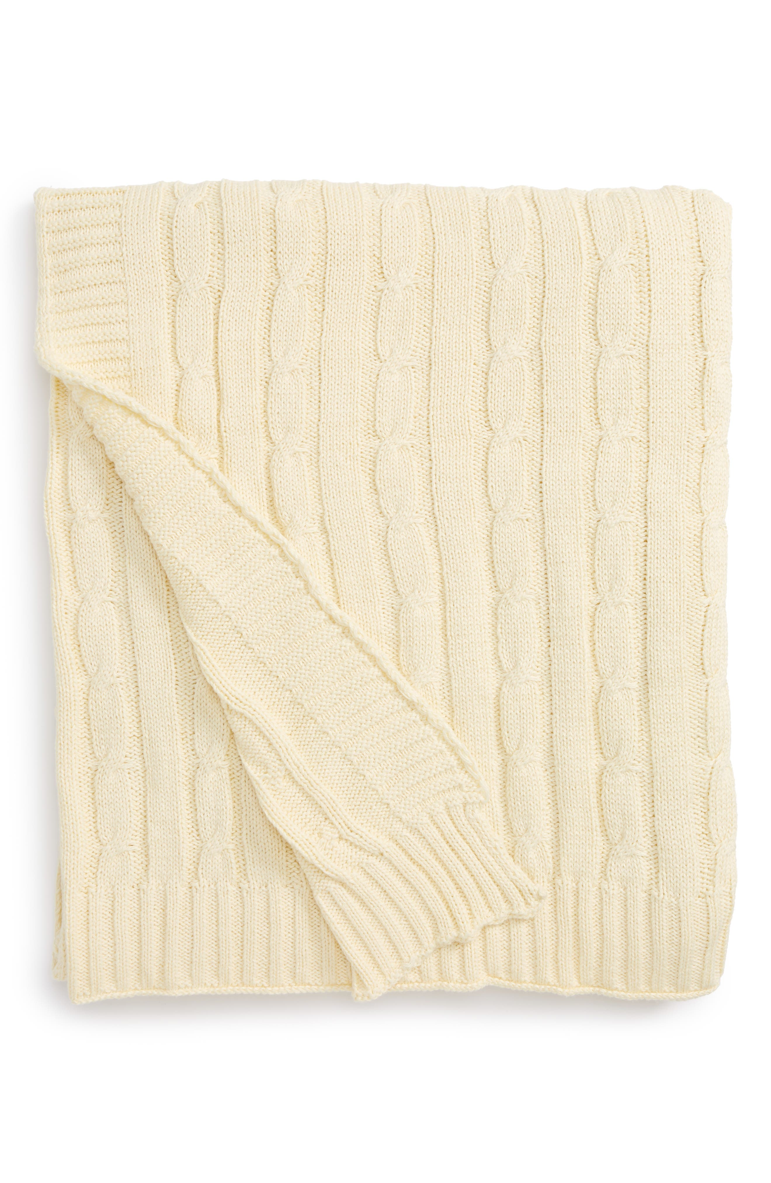 RIZZY HOME, Cable Knit Cotton Throw, Main thumbnail 1, color, 270