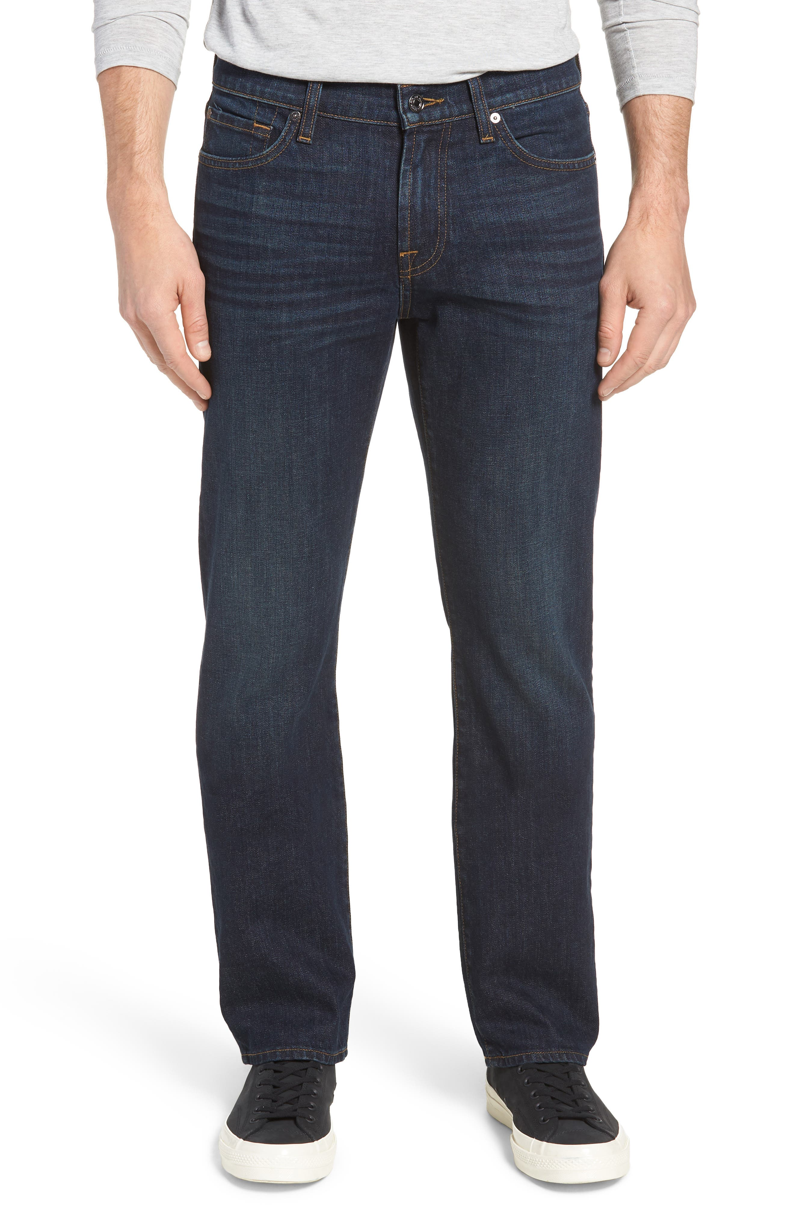 7 FOR ALL MANKIND<SUP>®</SUP>, Standard Straight Leg Jeans, Main thumbnail 1, color, ABERDEEN