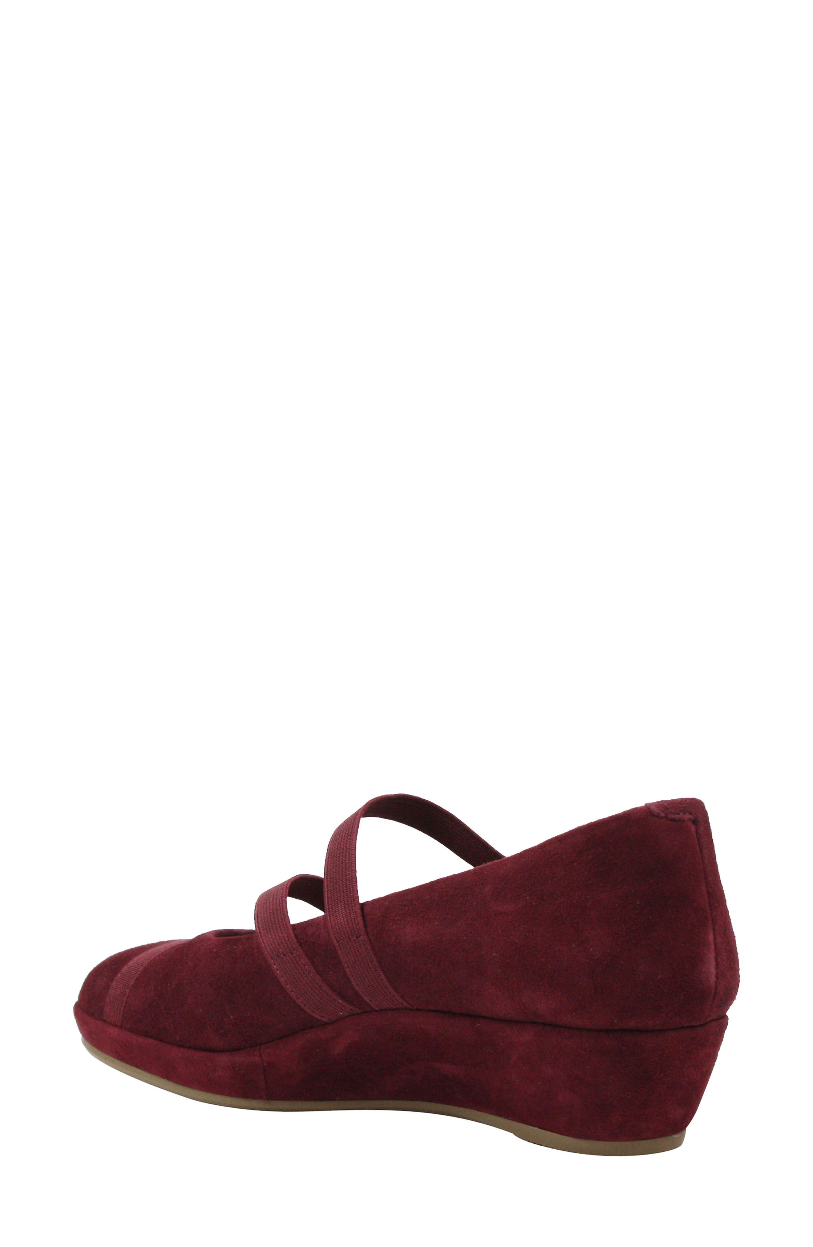 L'AMOUR DES PIEDS, Berency Wedge, Alternate thumbnail 2, color, MULBERRY SUEDE