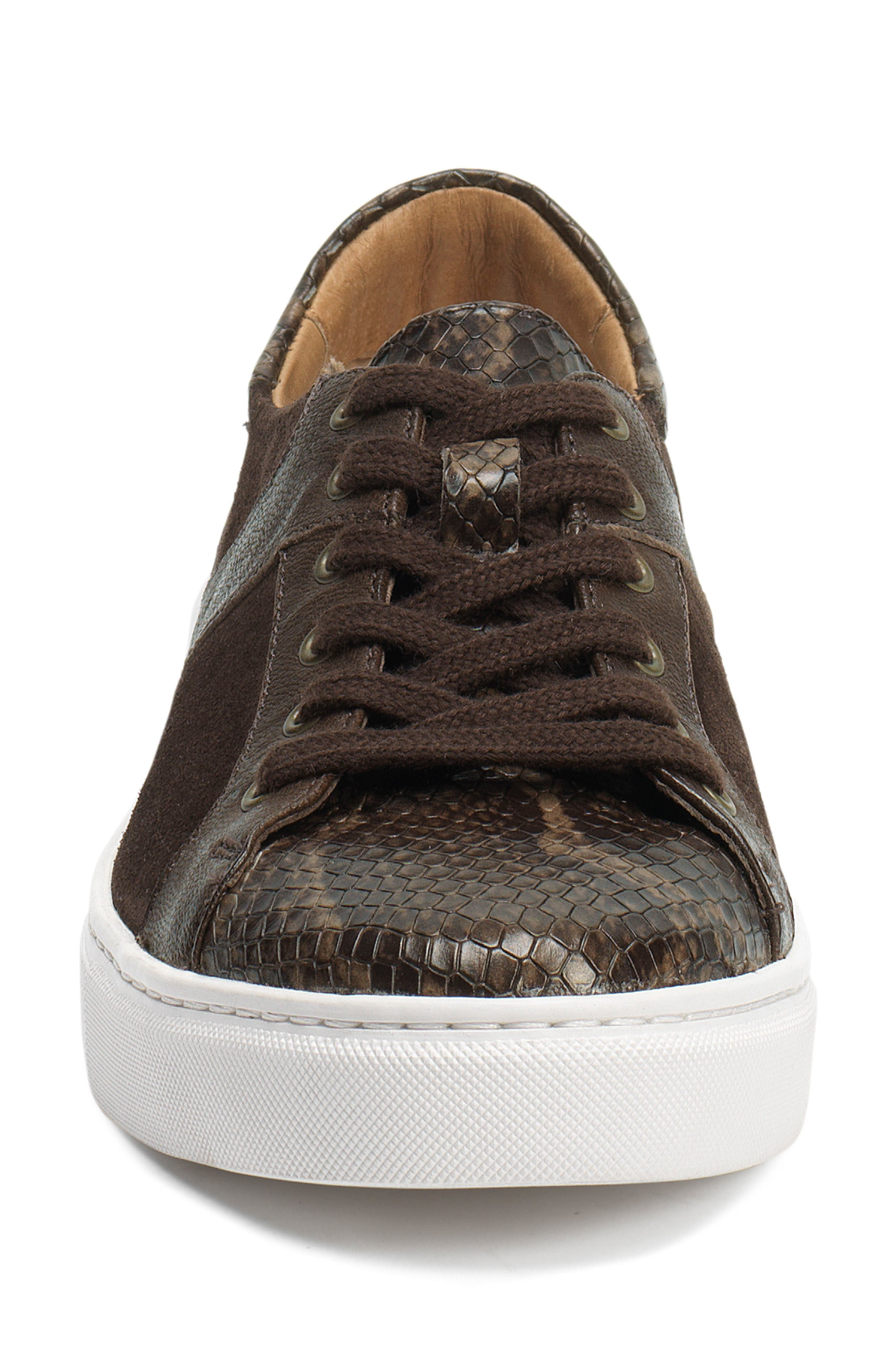 TRASK, Lindsey Sneaker, Alternate thumbnail 4, color, BROWN PRINT LEATHER