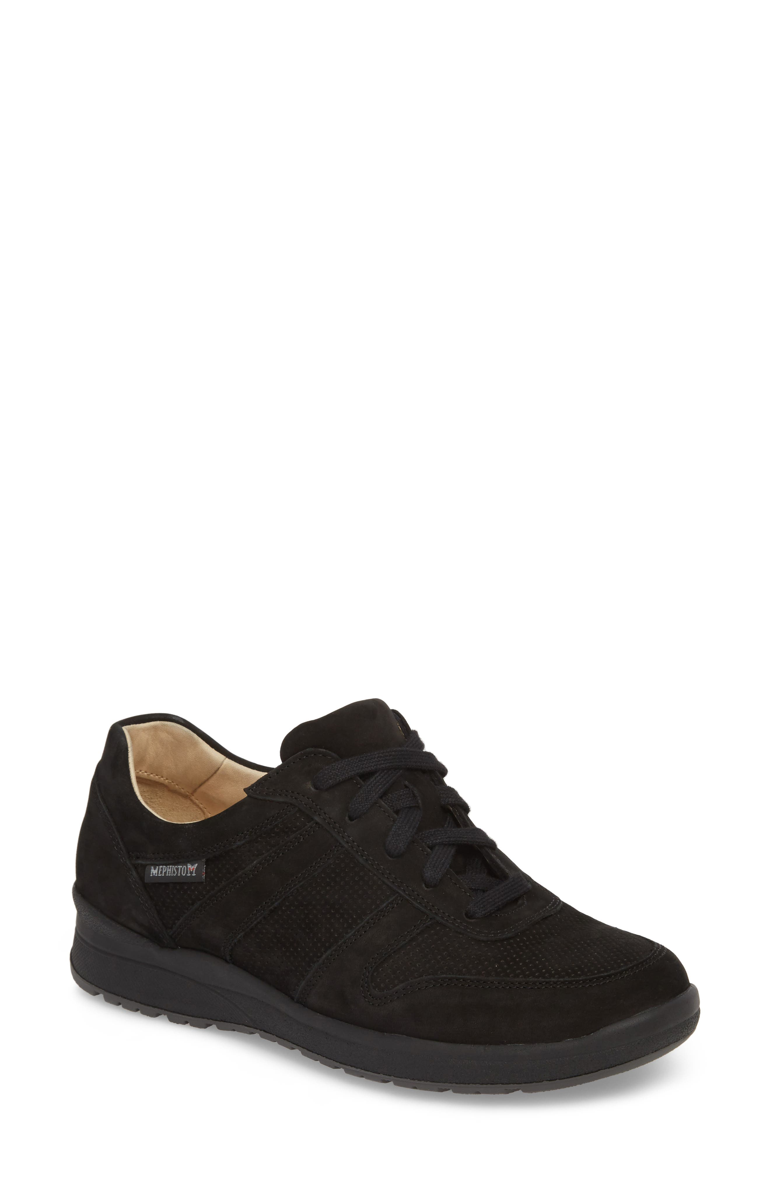 MEPHISTO, Rebecca Perforated Sneaker, Main thumbnail 1, color, 002