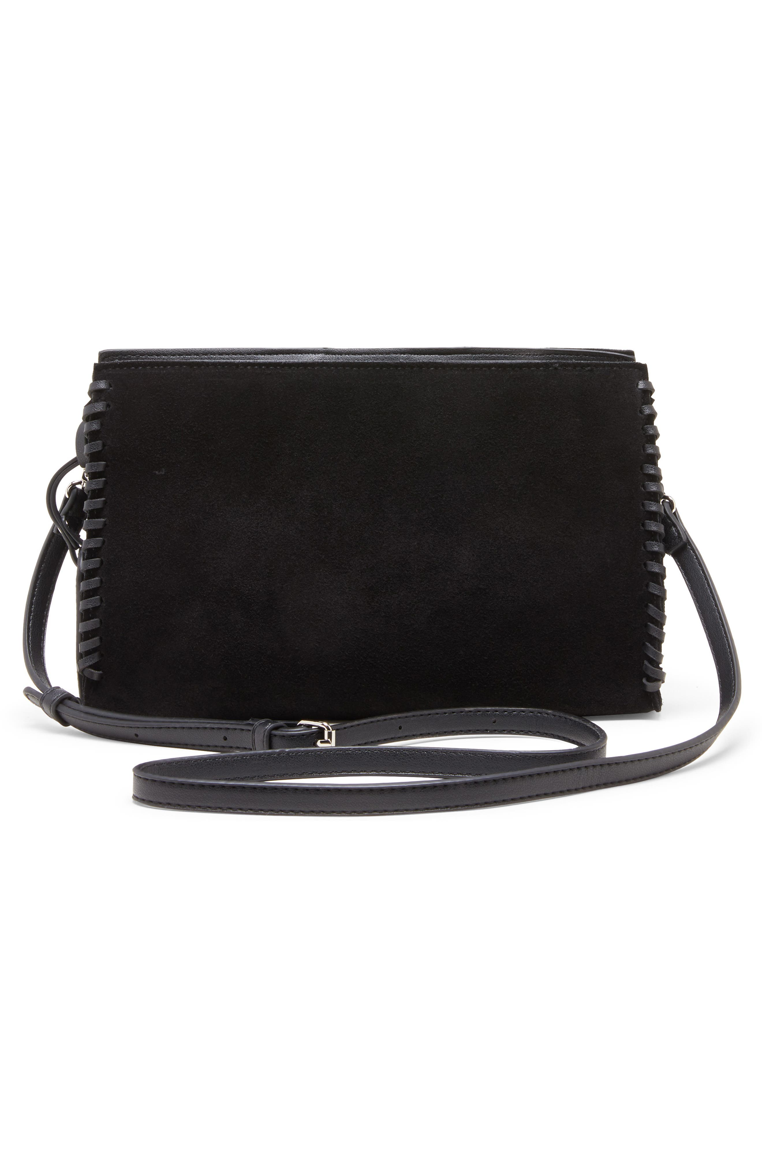 SOLE SOCIETY, Wahli Clutch, Alternate thumbnail 2, color, BLACK
