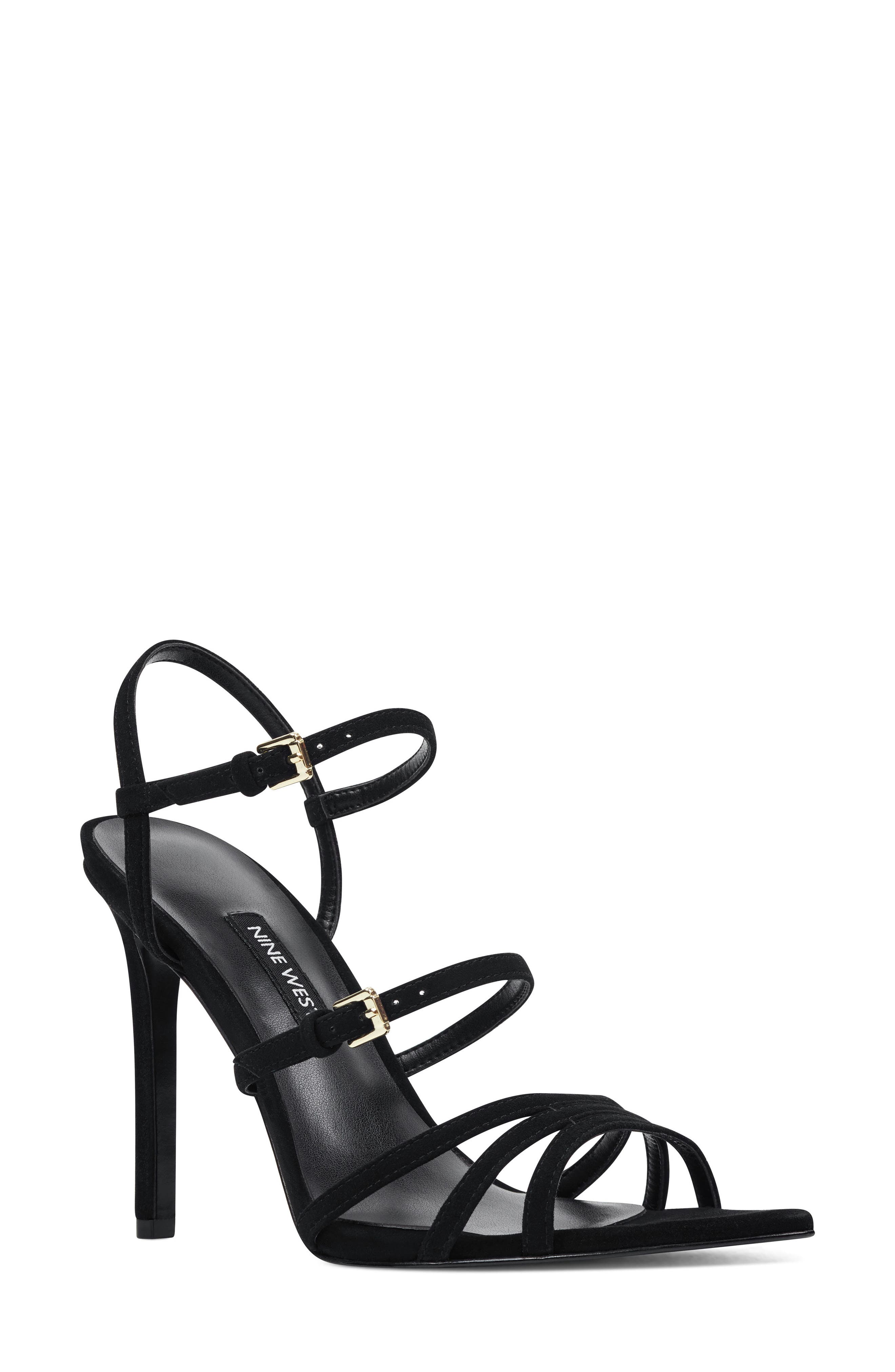 Nine West Gilficco Strappy Sandal- Black