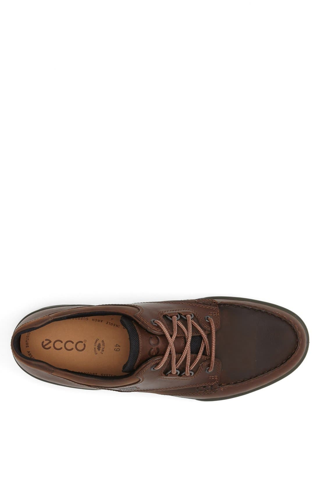 ECCO, 'Track II Moc Low' Oxford, Alternate thumbnail 4, color, BROWN