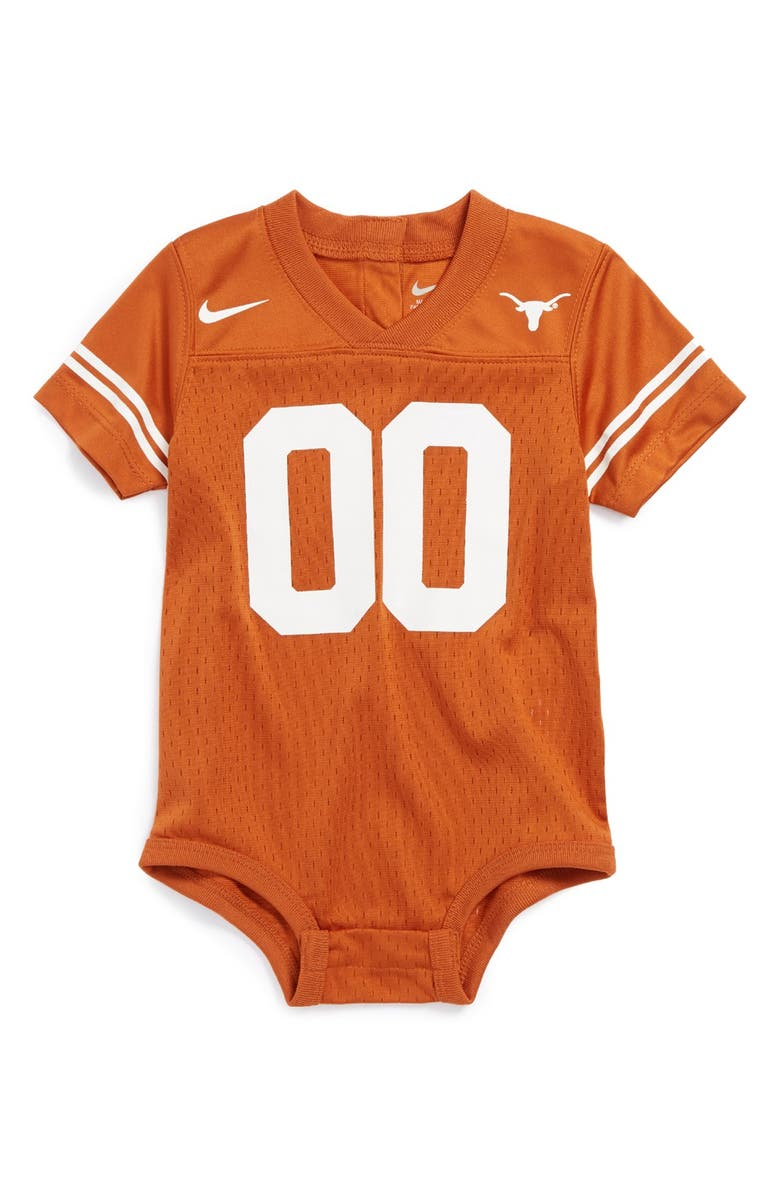 65ea7d06205 Nike 'Texas Longhorns' Mesh Football Jersey Bodysuit (Baby) | Nordstrom