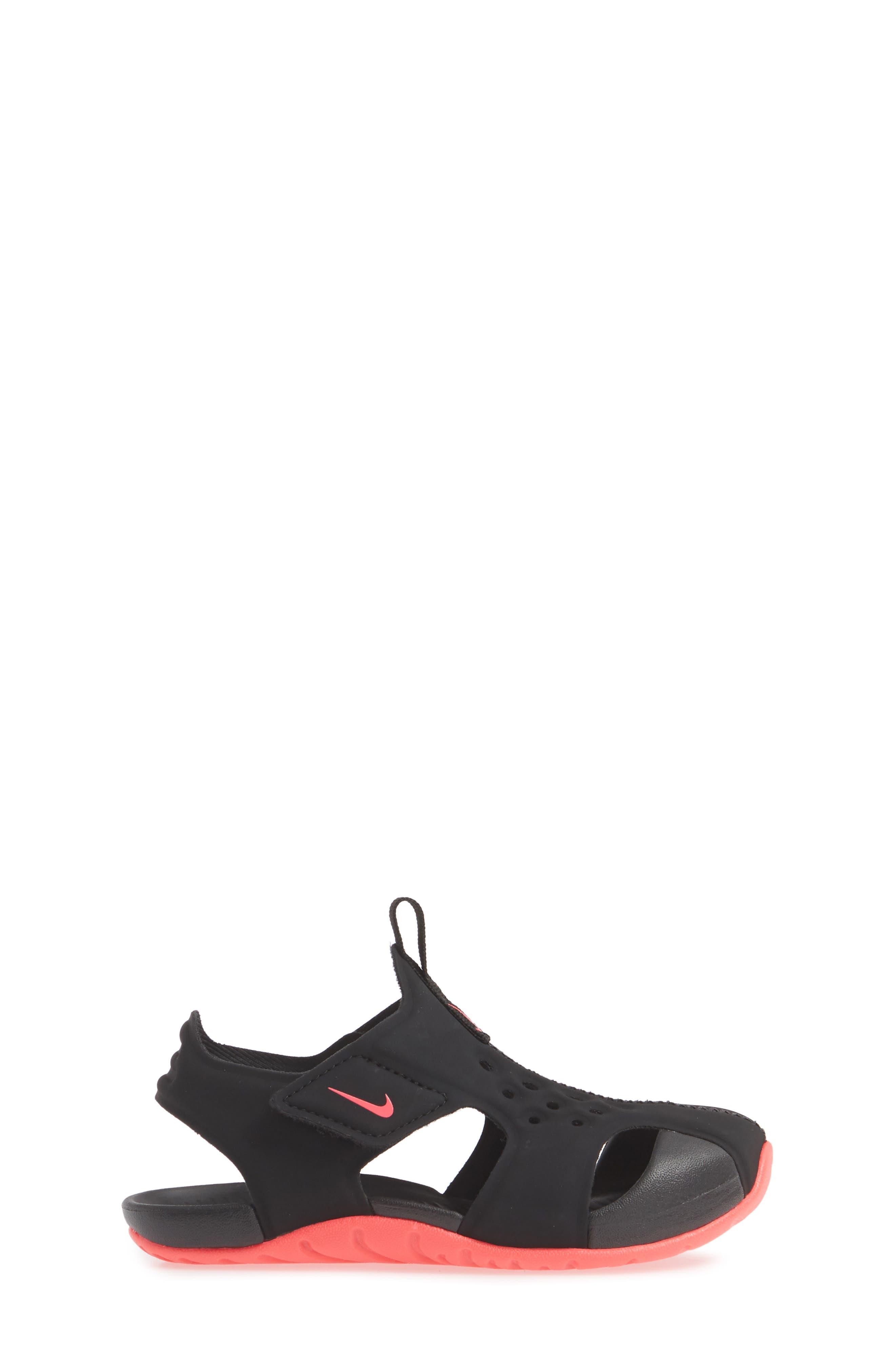 NIKE, Sunray Protect 2 Sandal, Alternate thumbnail 3, color, BLACK/ RACER PINK