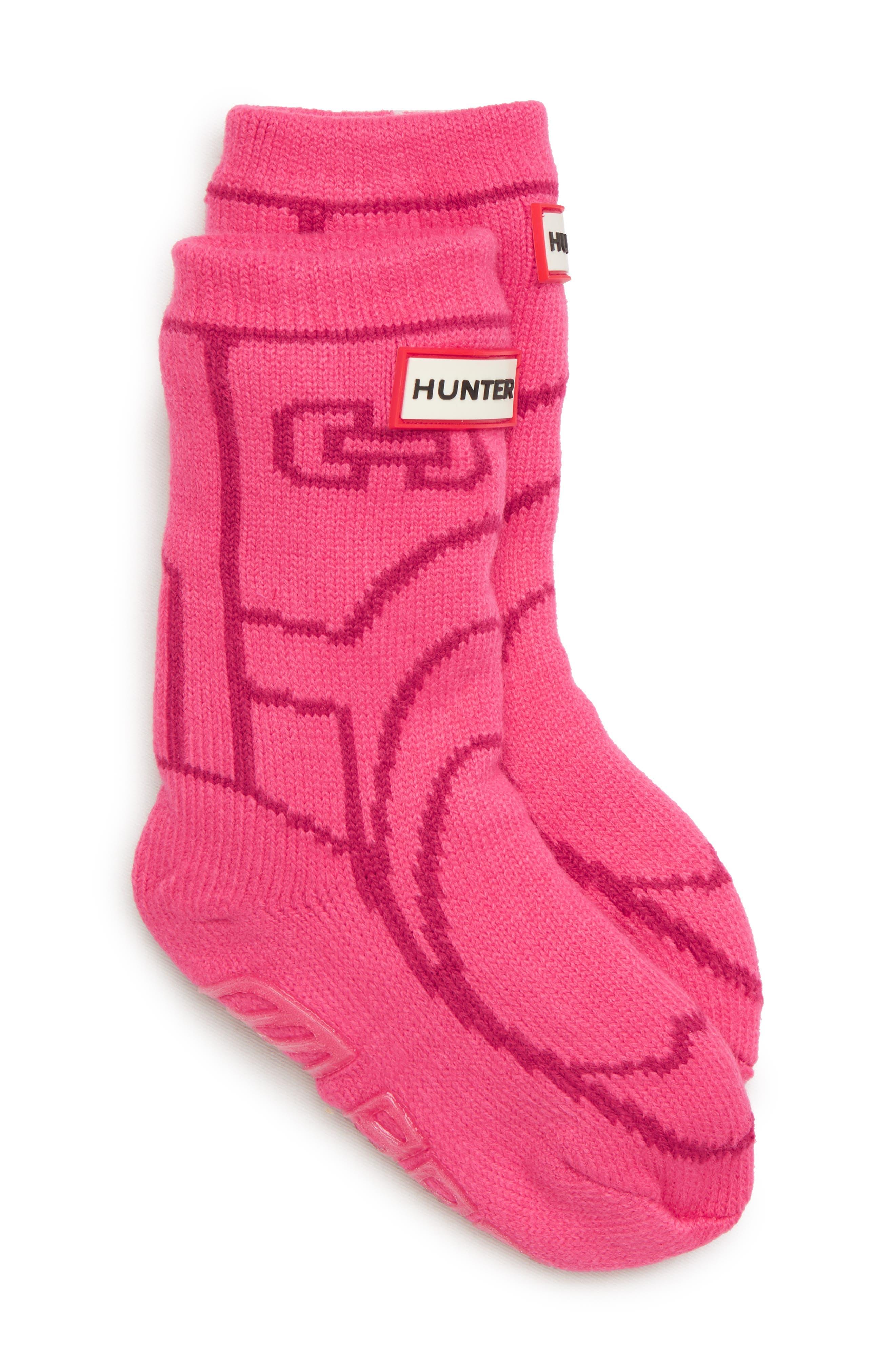 Toddler Hunter Original Boot Slipper Socks Size Large  Pink