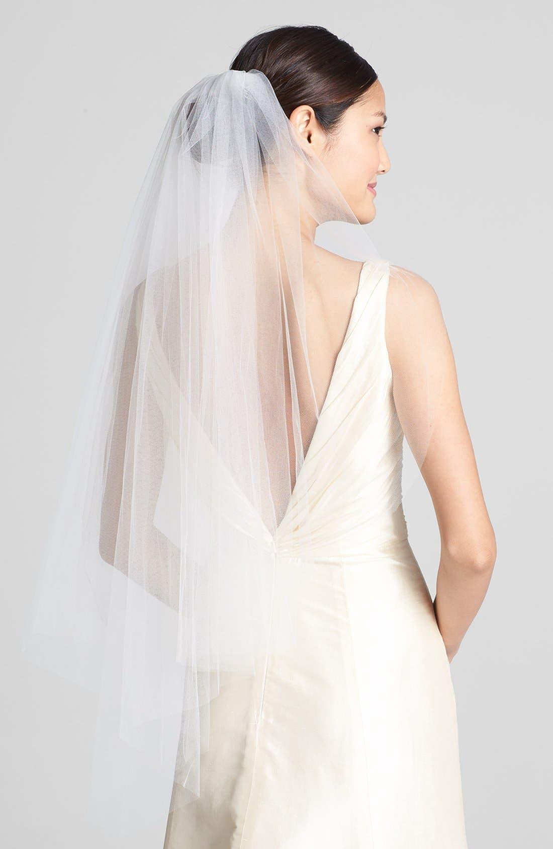 WEDDING BELLES NEW YORK, 'Ellen' Veil, Main thumbnail 1, color, IVORY